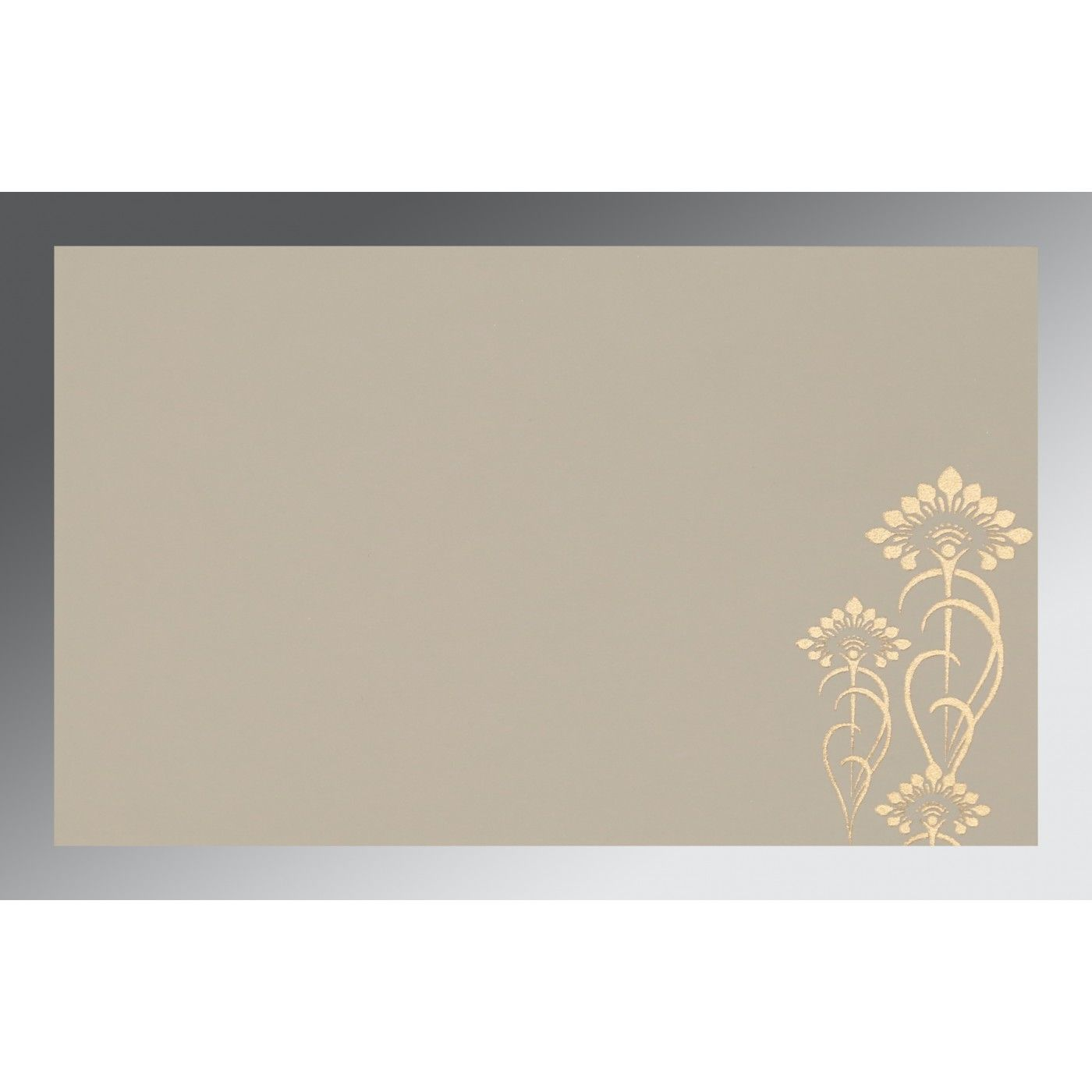 IVORY SHIMMERY SCREEN PRINTED WEDDING CARD : CRU-8239K - IndianWeddingCards