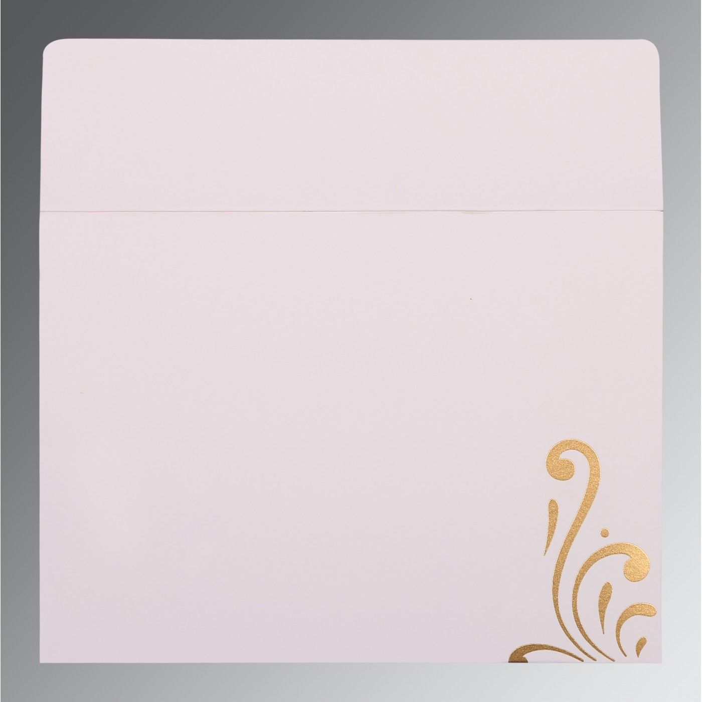 CHAMOISEE SHIMMERY SCREEN PRINTED WEDDING CARD : CW-8223L - IndianWeddingCards