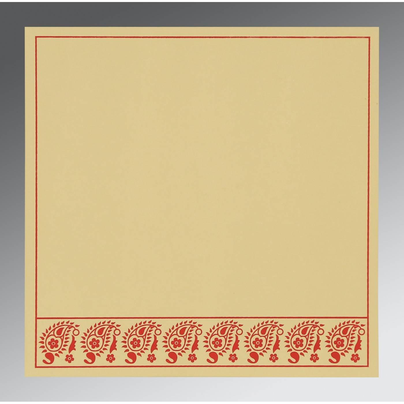 MUSTARD YELLOW WOOLY FLORAL THEMED - SCREEN PRINTED WEDDING CARD : CG-8218B - IndianWeddingCards