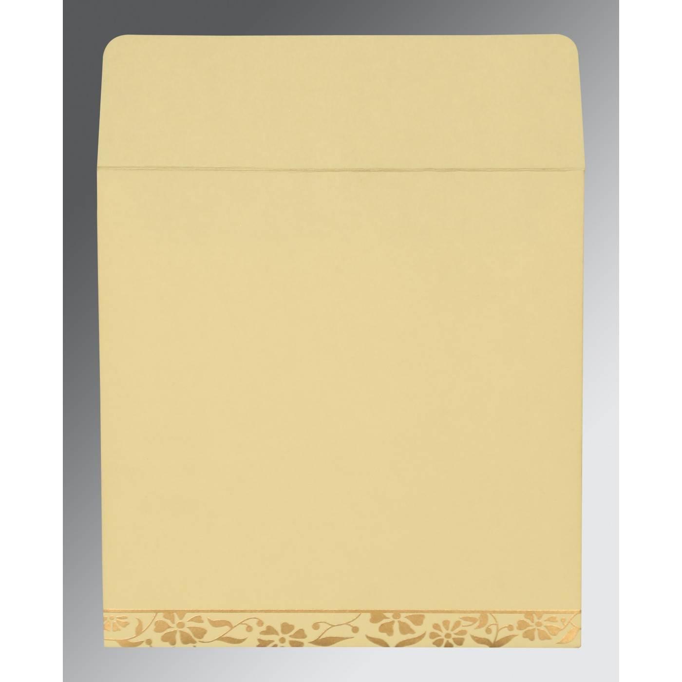 CREAM MATTE FLORAL THEMED - SCREEN PRINTED WEDDING CARD : CSO-8222F - IndianWeddingCards