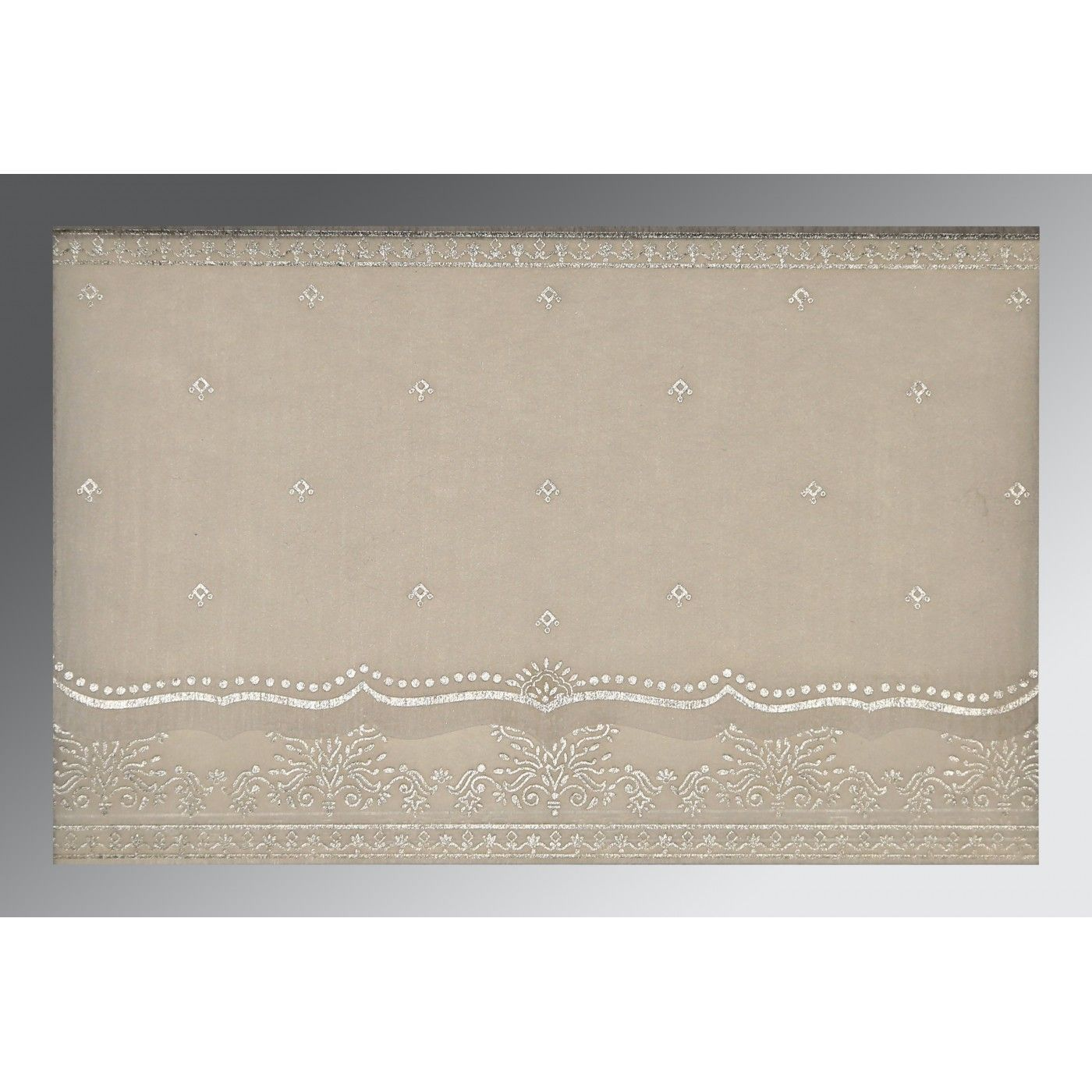 GREY WOOLY FOIL STAMPED WEDDING INVITATION : CD-8241A - IndianWeddingCards
