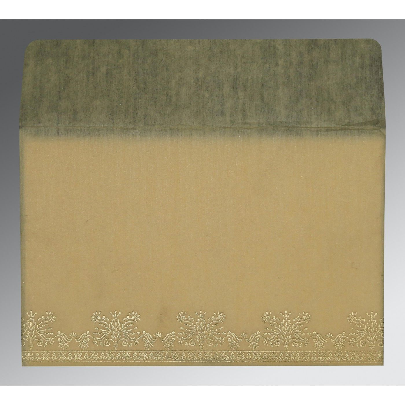 BEIGE WOOLY FOIL STAMPED WEDDING INVITATION : CI-8241F - IndianWeddingCards