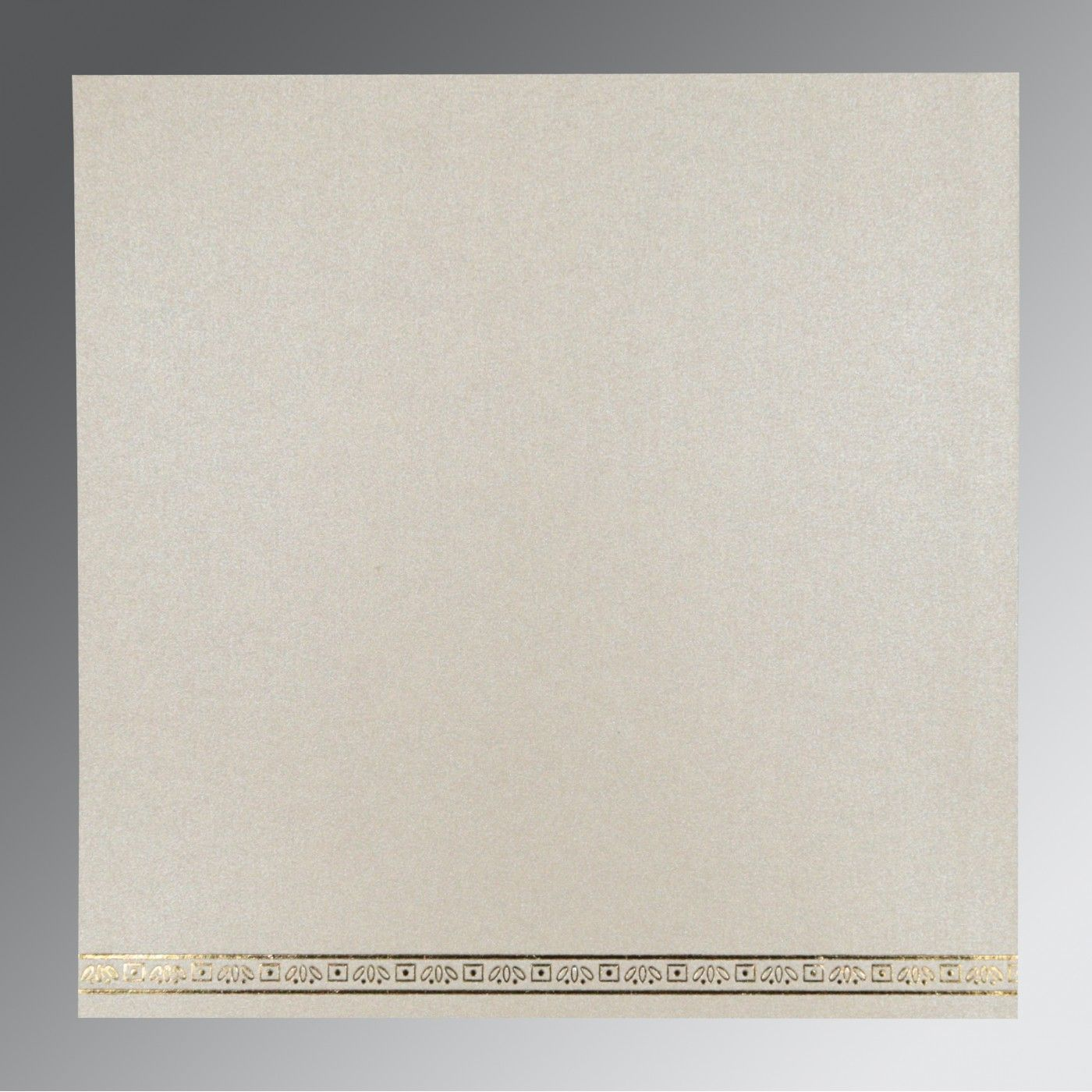 IVORY WOOLY FOIL STAMPED WEDDING CARD : CIN-8242M - IndianWeddingCards