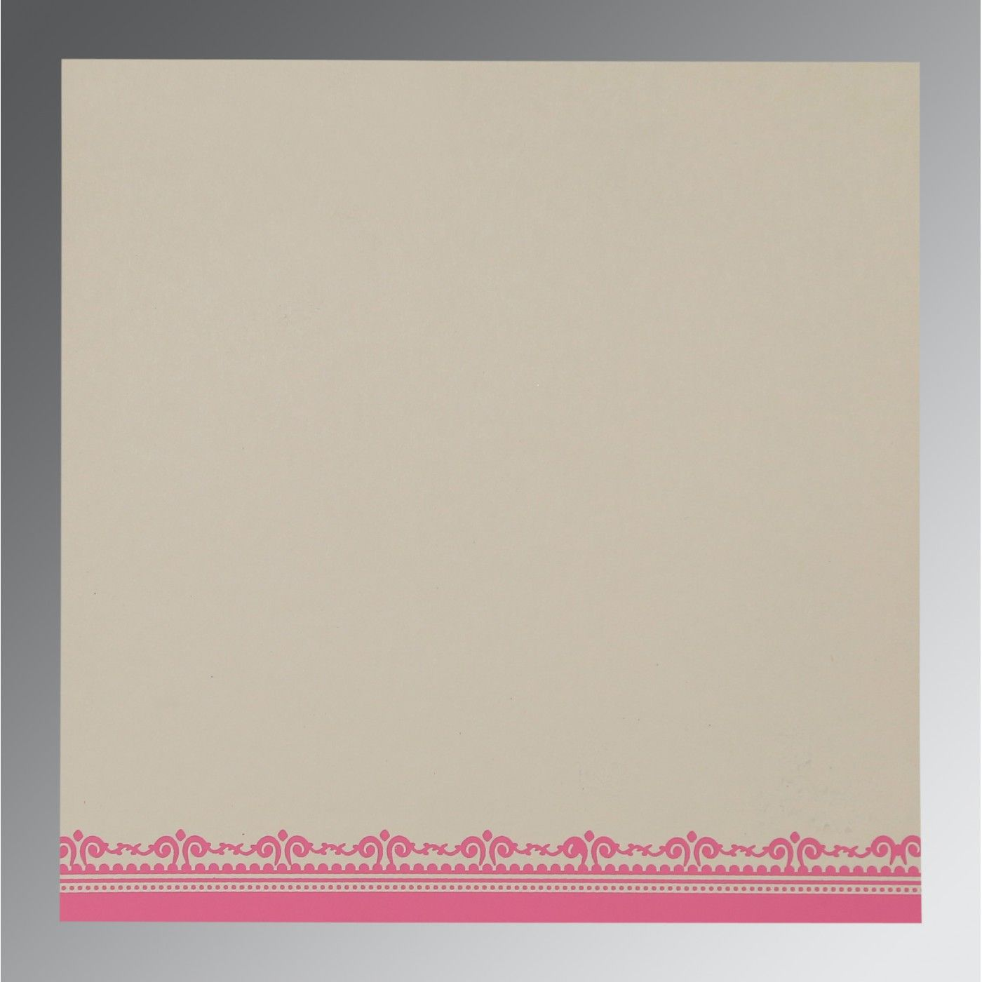 IVORY WOOLY GLITTER WEDDING CARD : CW-8205A - IndianWeddingCards