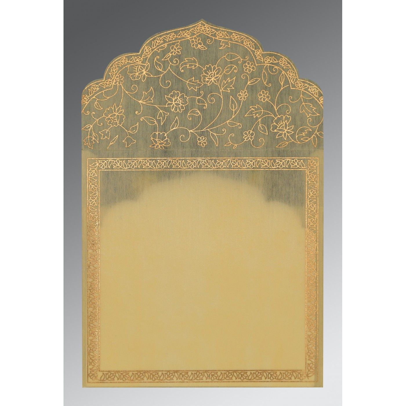 MANGO YELLOW WOOLY SCREEN PRINTED WEDDING INVITATION : CSO-8211K - IndianWeddingCards