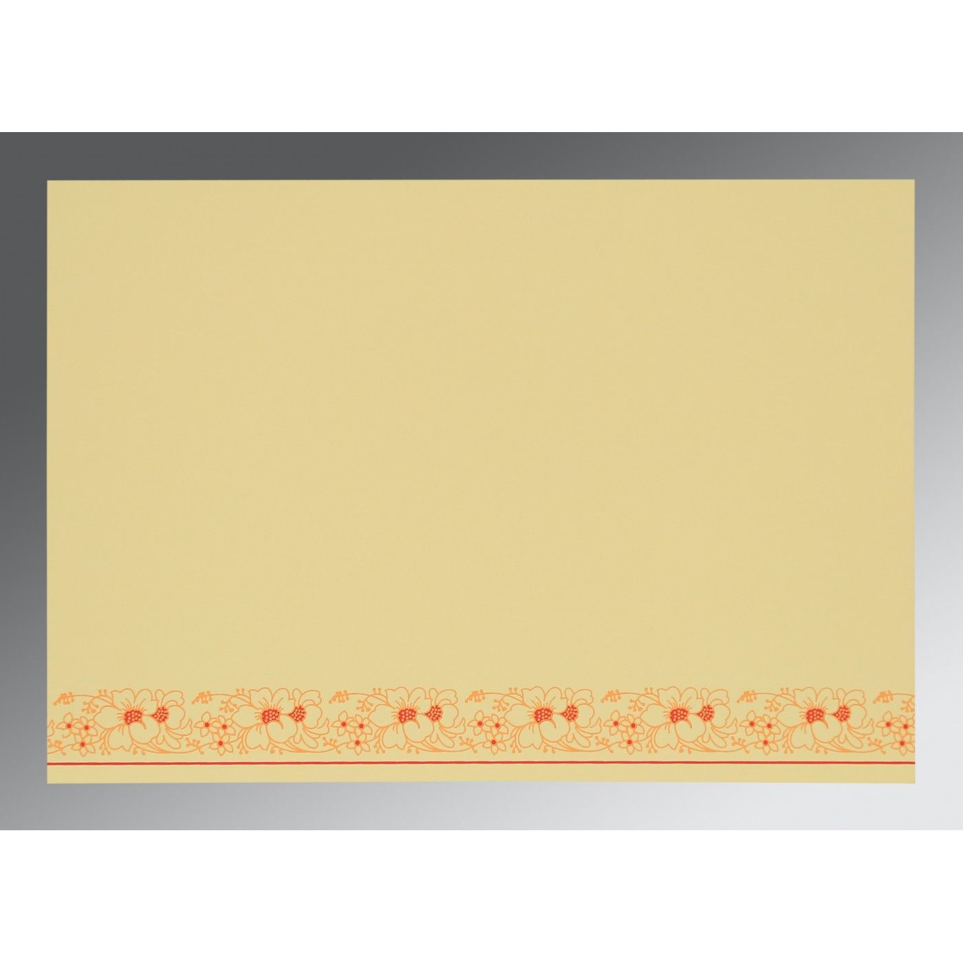IVORY WOOLY SCREEN PRINTED WEDDING INVITATION : CW-8207A - IndianWeddingCards