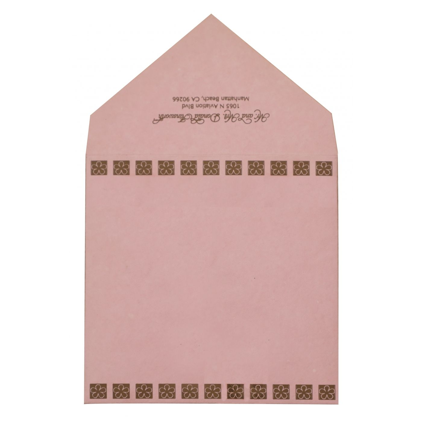 KHAKI HANDMADE COTTON FLORAL THEMED - EMBOSSED WEDDING INVITATION : CW-832 - IndianWeddingCards