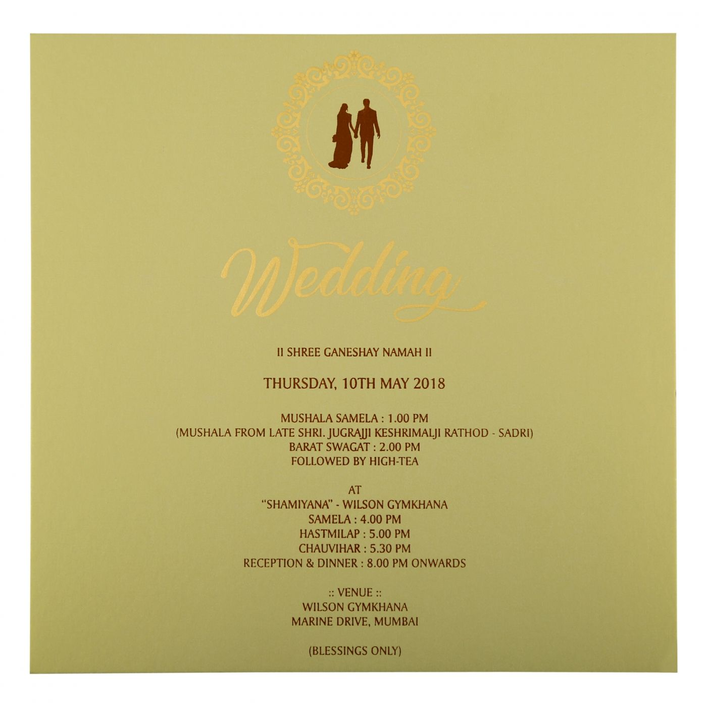 MEHNDI MATTE BOX THEMED - FOIL STAMPED WEDDING INVITATION : CS-1846 - IndianWeddingCards