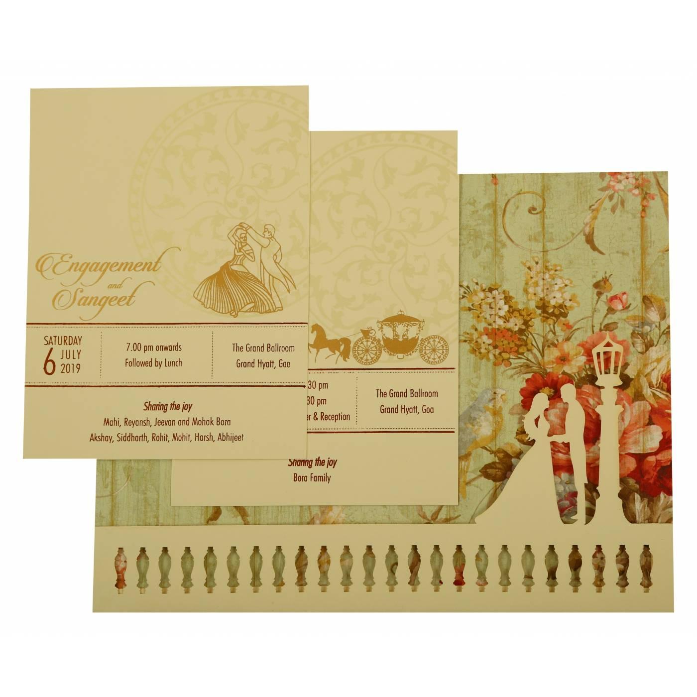 WEDDING INVITATION : CC-1932 - IndianWeddingCards