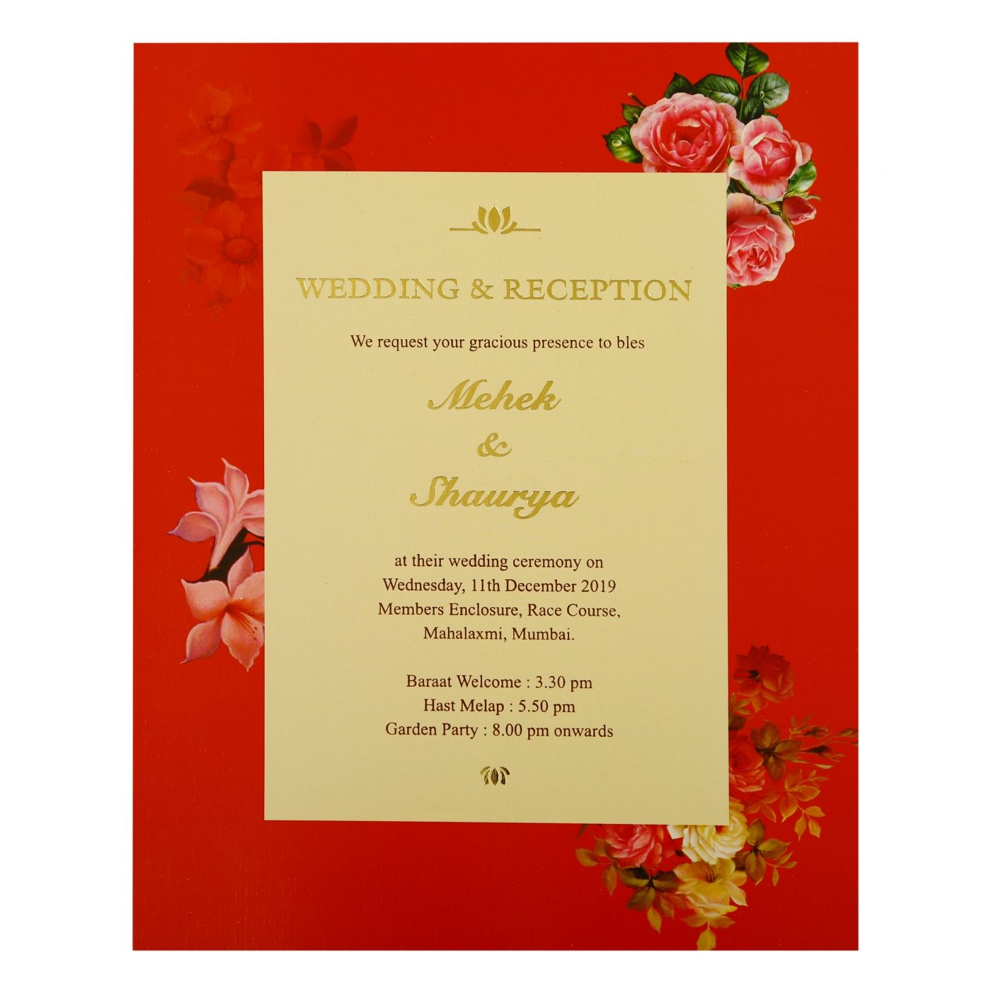 OFF-WHITE SHIMMERY BOX THEMED - FOIL STAMPED WEDDING INVITATION : CI-1865 - IndianWeddingCards