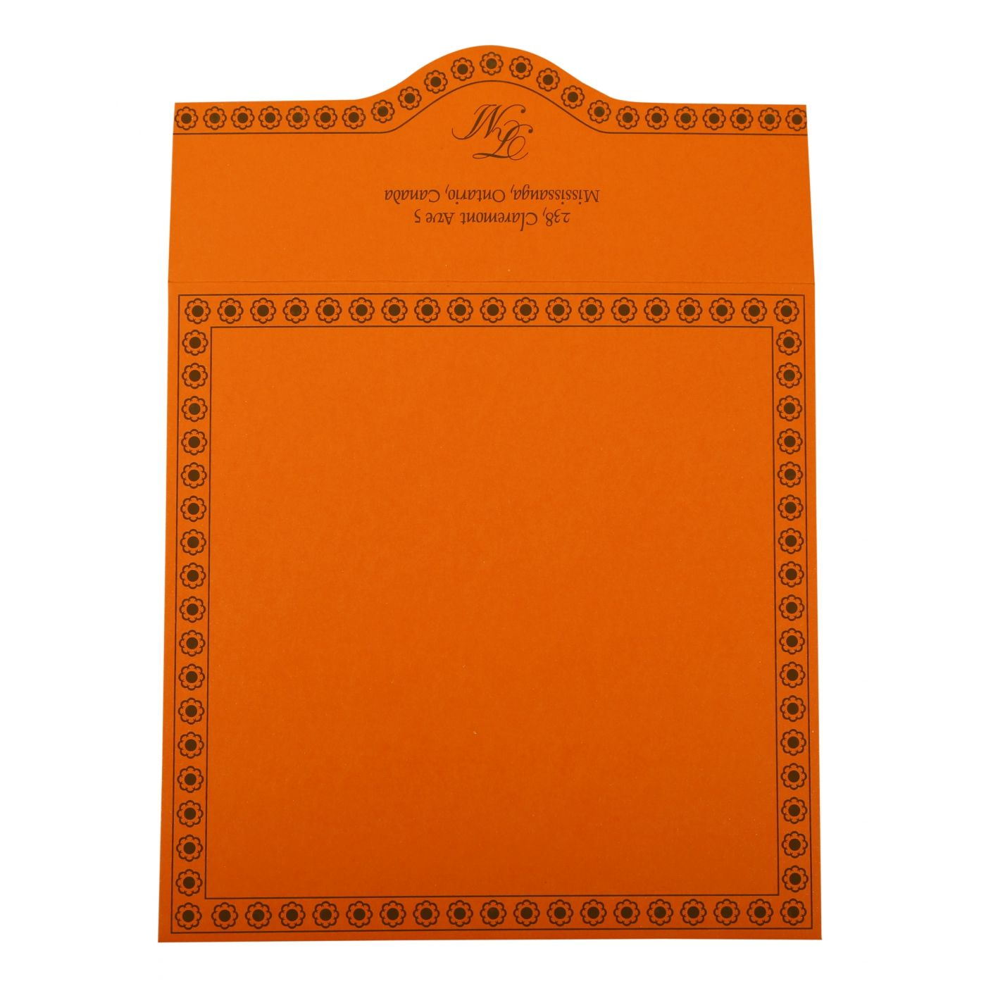 ORANGE BUTTERFLY THEMED - SCREEN PRINTED WEDDING INVITATION : CW-820A - IndianWeddingCards