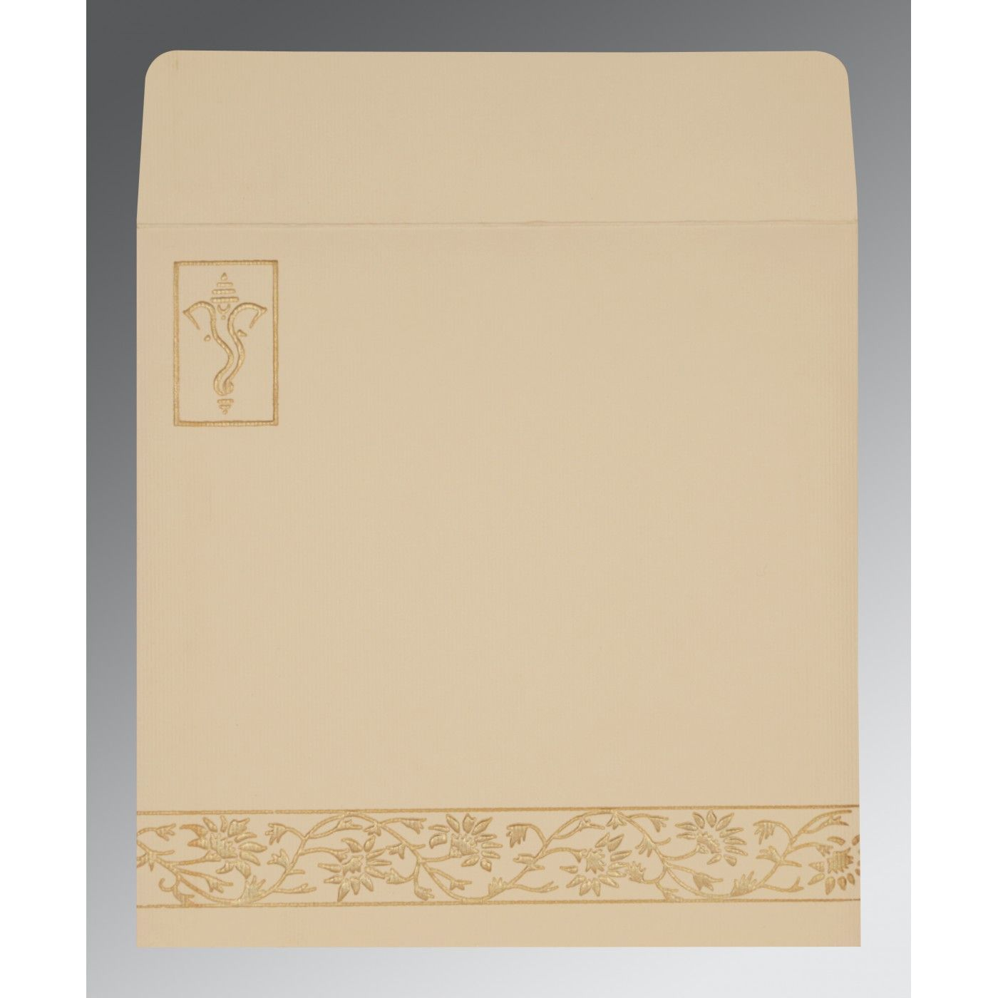 MANGO YELLOW HANDMADE SHIMMER EMBOSSED WEDDING INVITATION : CW-2178 - IndianWeddingCards