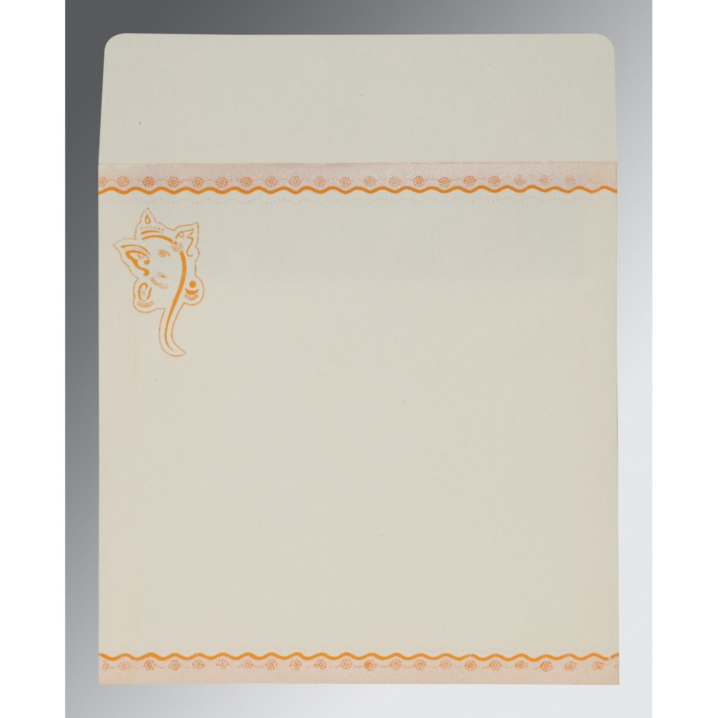 VIVID ORANGE MATTE EMBOSSED WEDDING INVITATION : CW-2214 - IndianWeddingCards