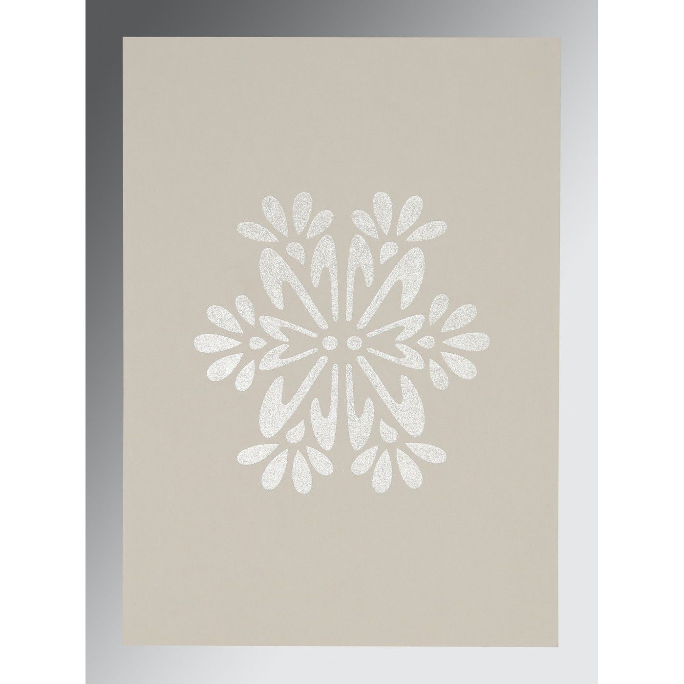 RAW SIENNA MATTE FLORAL THEMED - FOIL STAMPED WEDDING INVITATION : CG-8237K - IndianWeddingCards
