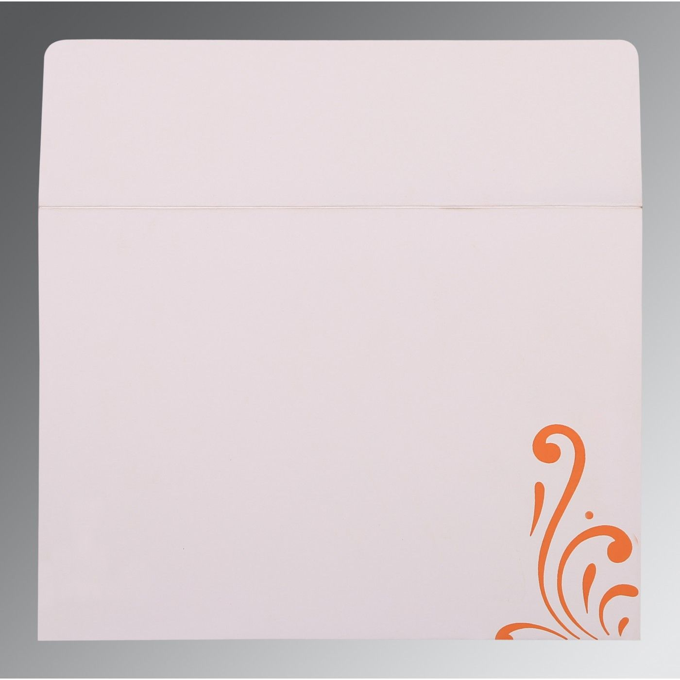 SALMON SHIMMERY SCREEN PRINTED WEDDING CARD : CI-8223K - IndianWeddingCards