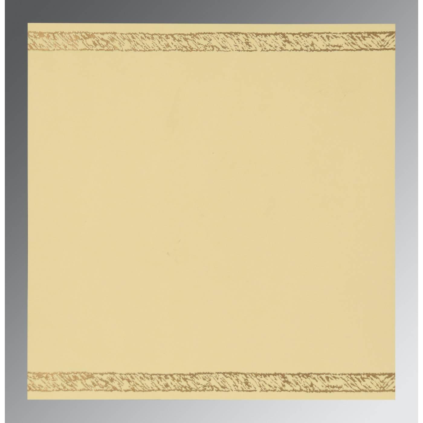 BURNT ORANGE SHIMMERY FLORAL THEMED - EMBOSSED WEDDING CARD : CG-8209D - IndianWeddingCards