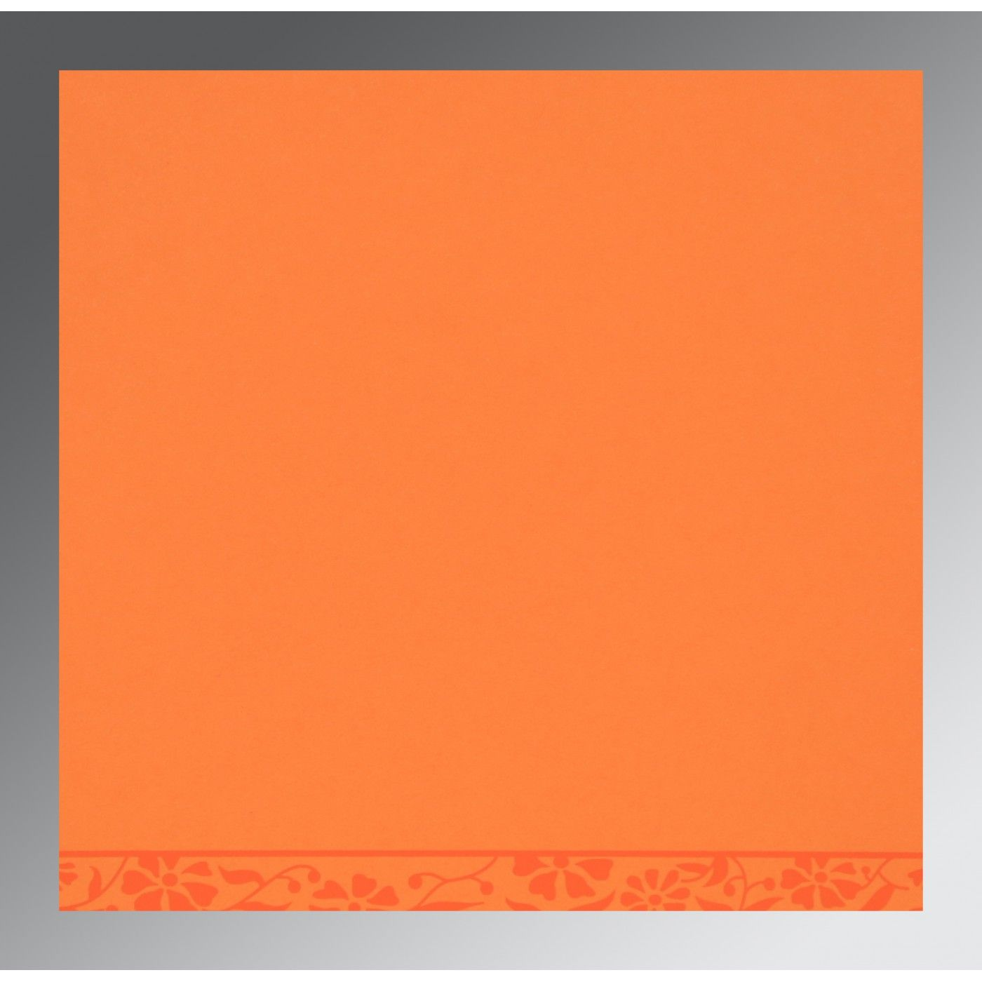 LIGHT ORANGE MATTE FLORAL THEMED - SCREEN PRINTED WEDDING CARD : CG-8222C - IndianWeddingCards