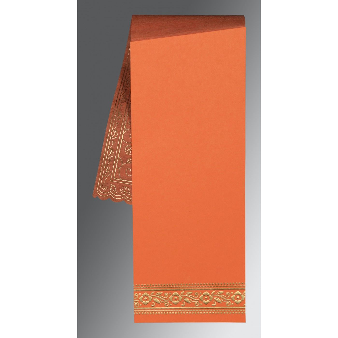 SALMON WOOLY SCREEN PRINTED WEDDING INVITATION : CW-8220N - IndianWeddingCards