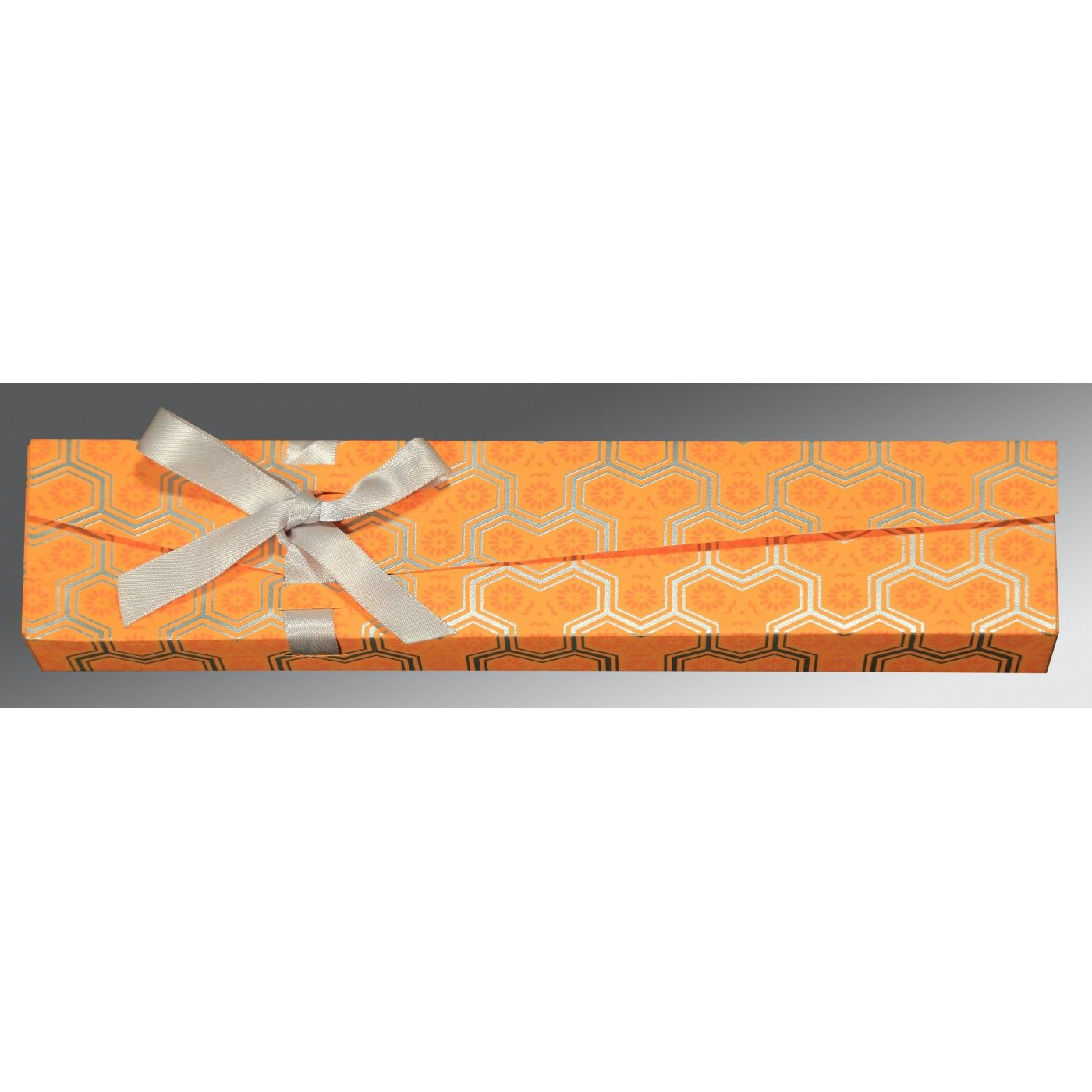 ORANGE WOOLY WEDDING CARD : CSC-5014F - IndianWeddingCards