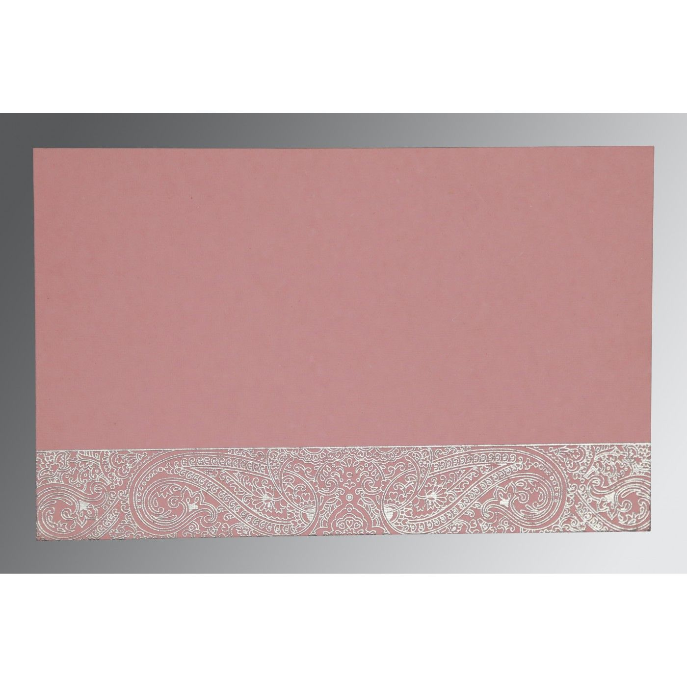 ENGLISH VIOLET HANDMADE COTTON EMBOSSED WEDDING CARD : CSO-8234G - IndianWeddingCards