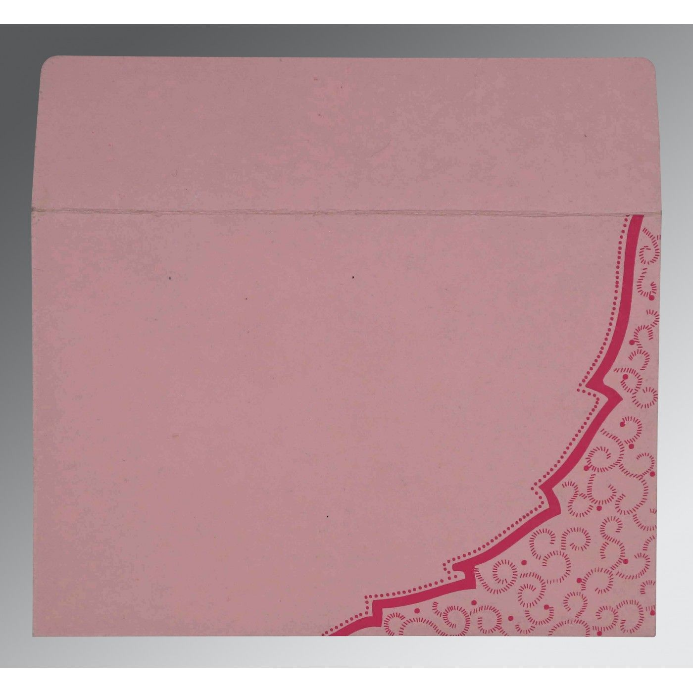 AZALEA PINK HANDMADE COTTON FLORAL THEMED - FOIL STAMPED WEDDING CARD : CI-8219K - IndianWeddingCards