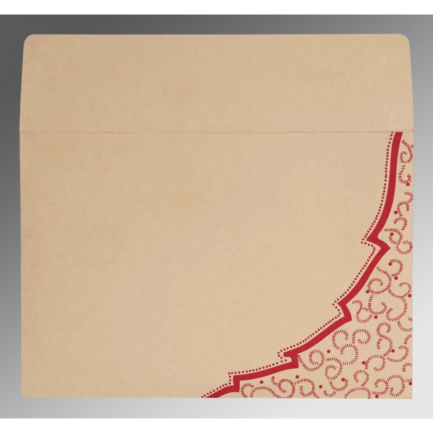 BABY PINK HANDMADE COTTON FLORAL THEMED - FOIL STAMPED WEDDING CARD : CRU-8219D - IndianWeddingCards