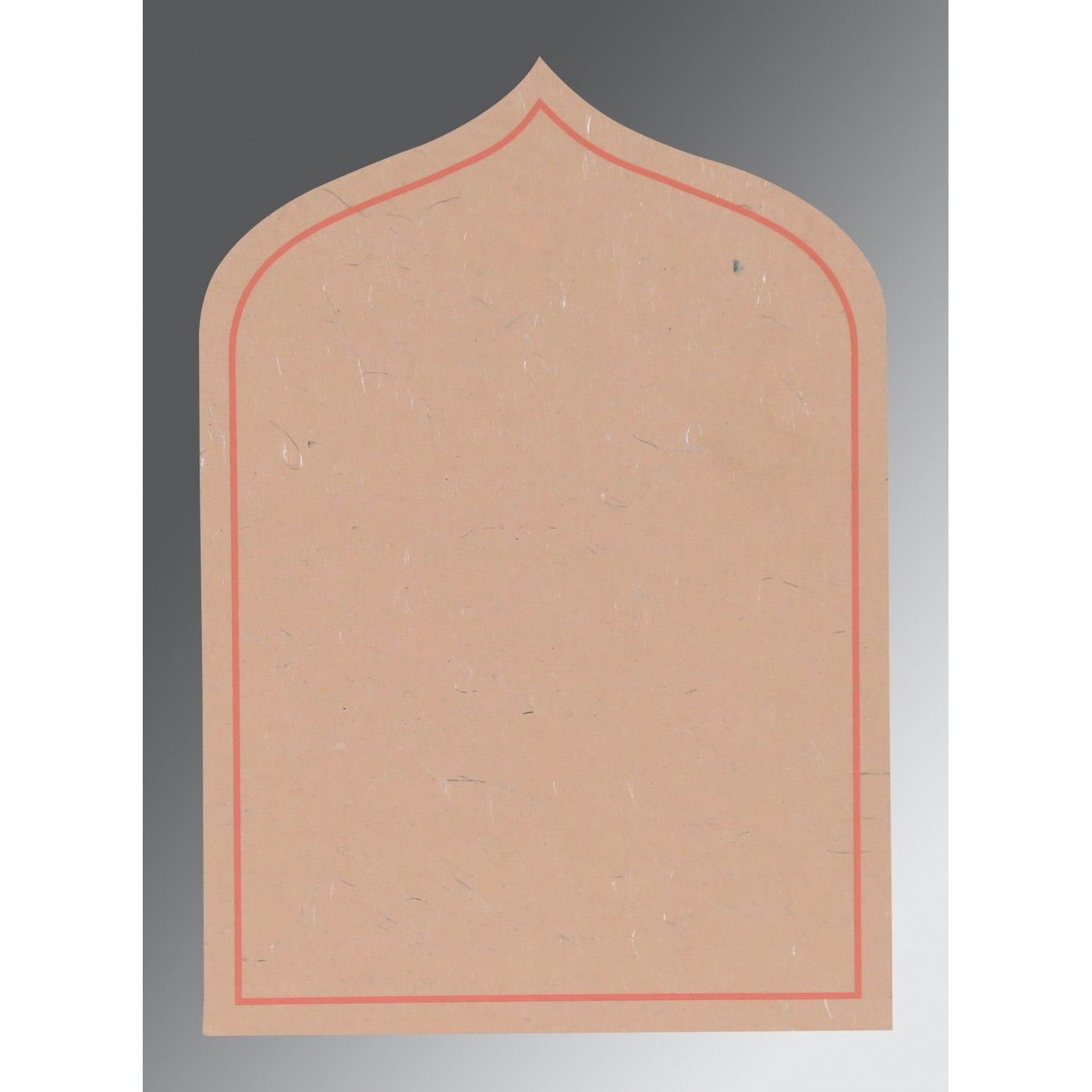 PEACH HANDMADE SILK PAISLEY THEMED - GLITTER WEDDING INVITATION : CSO-8208F - IndianWeddingCards