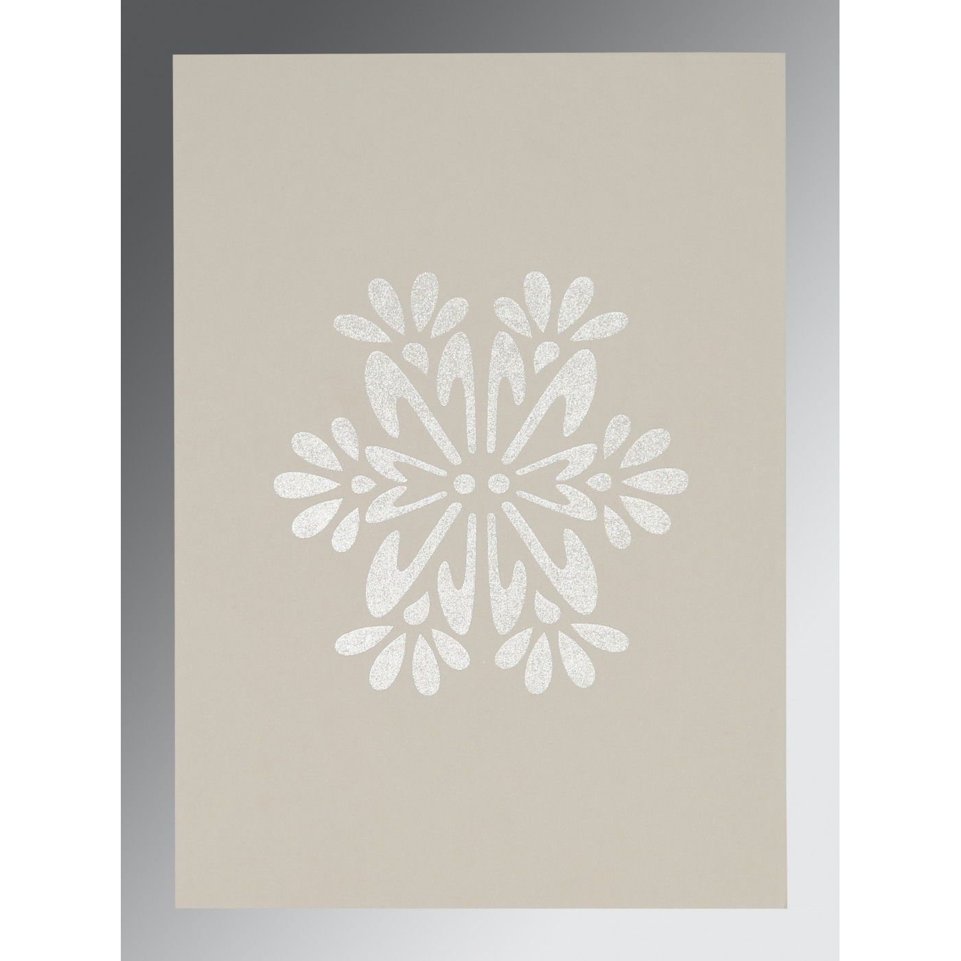 BROWN RUST MATTE FLORAL THEMED - FOIL STAMPED WEDDING INVITATION : CW-8237C - IndianWeddingCards