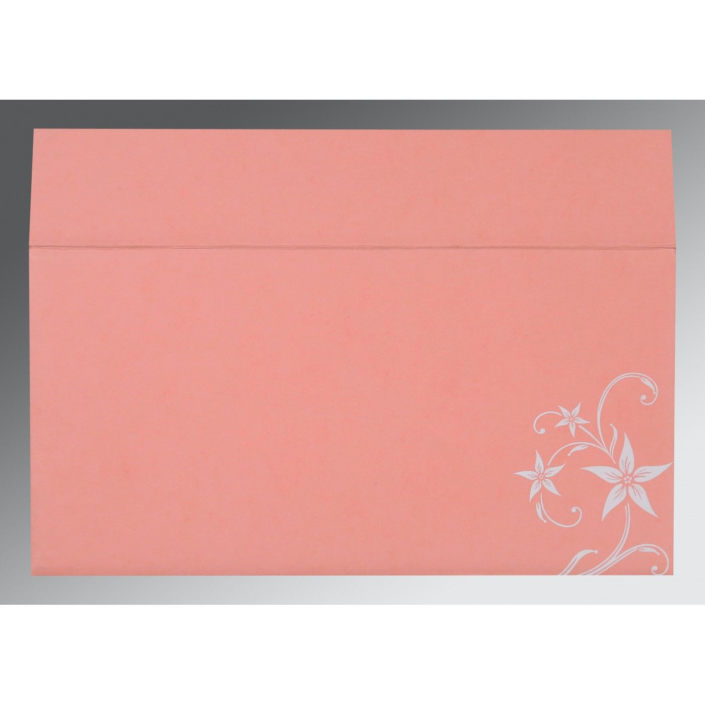 BLUSH PINK MATTE FLORAL THEMED - SCREEN PRINTED WEDDING INVITATION : CS-8225M - IndianWeddingCards