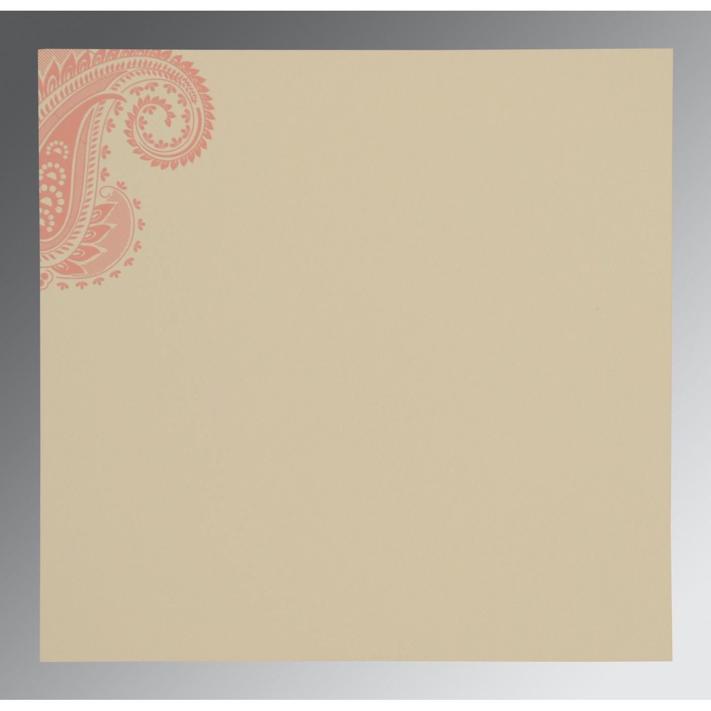 SWEET NECTAR MATTE PAISLEY THEMED - SCREEN PRINTED WEDDING CARD : CIN-8250F - IndianWeddingCards