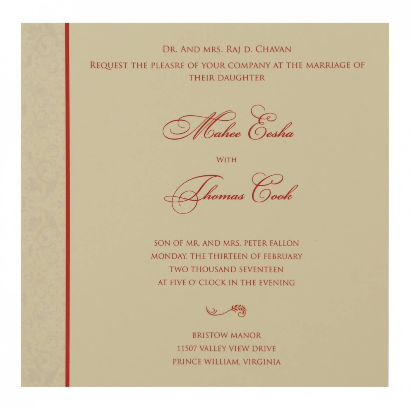 DARK RED MATTE PAISLEY THEMED - SCREEN PRINTED WEDDING CARD : CIN-8264D - IndianWeddingCards