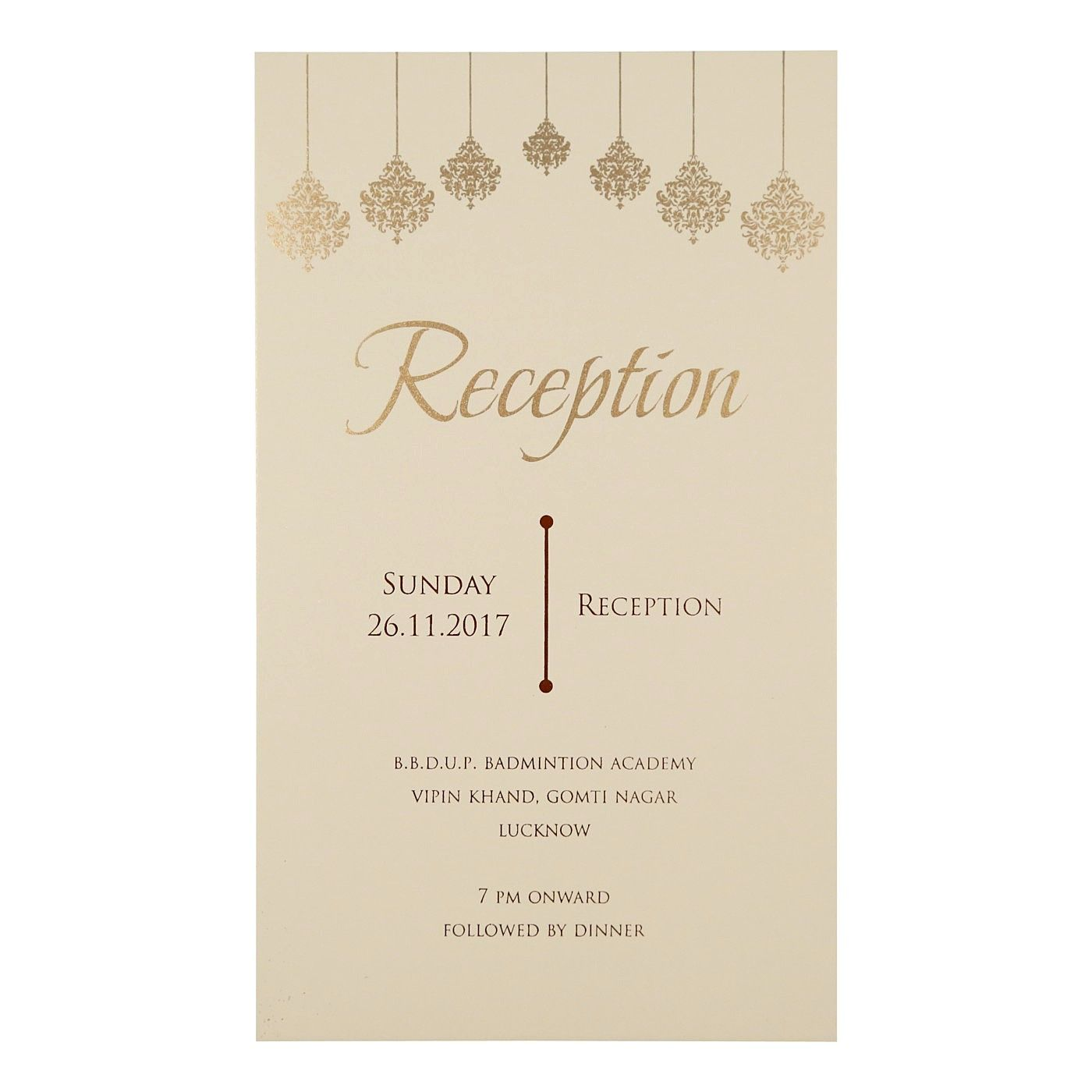 BABY PINK SHIMMERY DAMASK THEMED - SCREEN PRINTED WEDDING CARD : CD-1746 - IndianWeddingCards