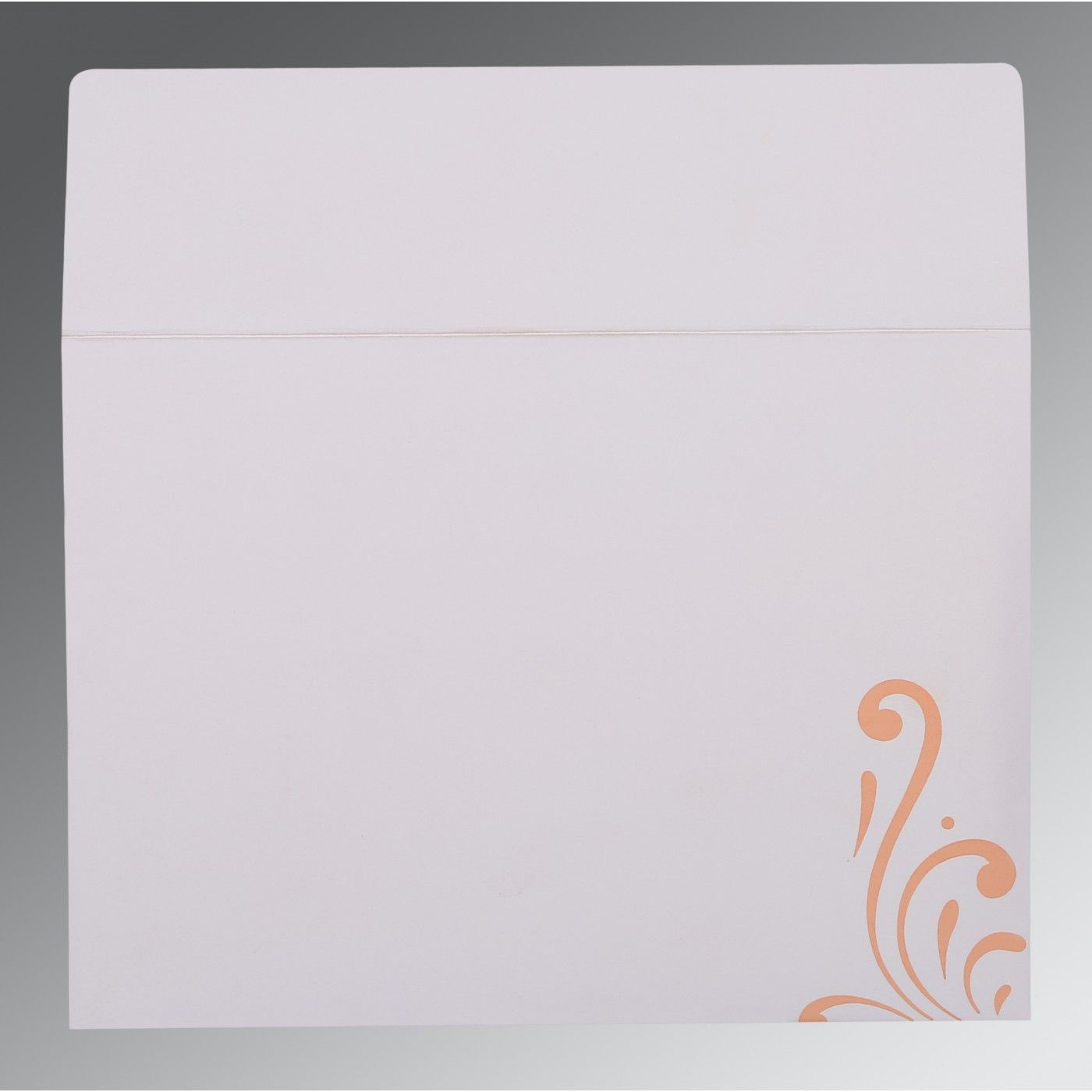 BABY PINK SHIMMERY SCREEN PRINTED WEDDING CARD : CW-8223E - IndianWeddingCards