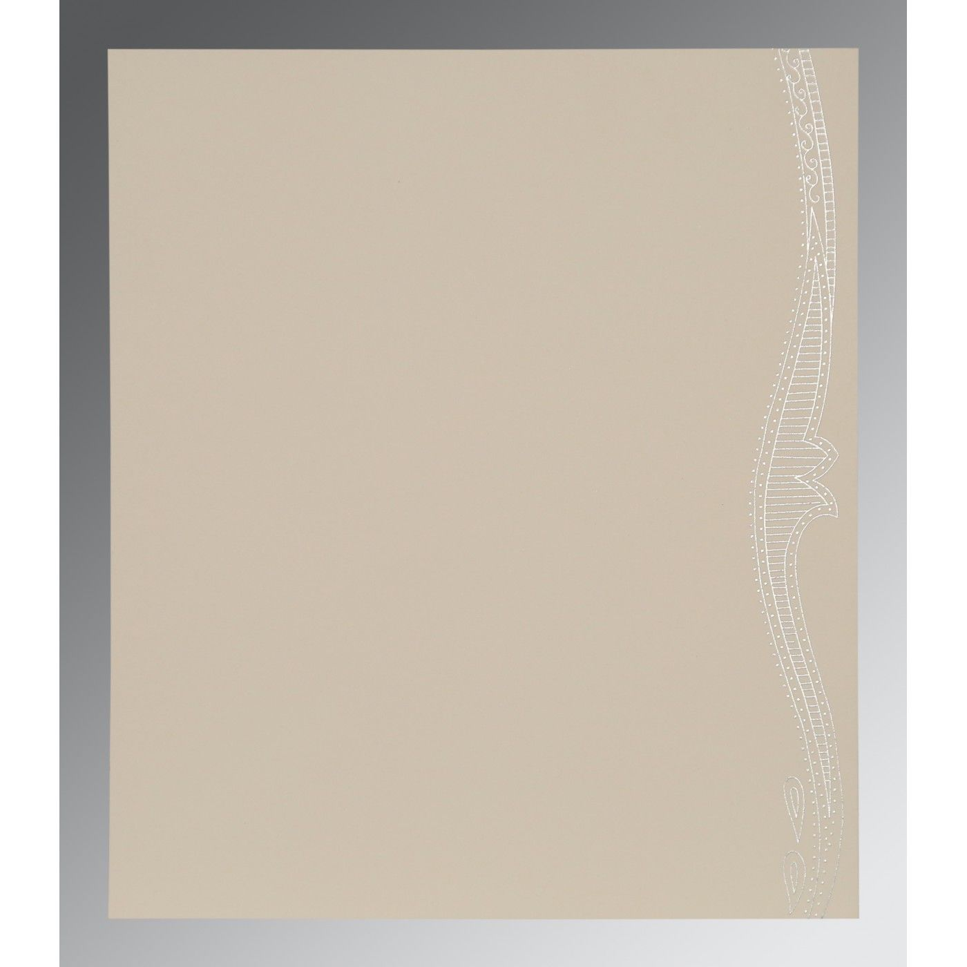 BLUSH PINK SHIMMERY EMBOSSED WEDDING CARD : CG-8210B - IndianWeddingCards