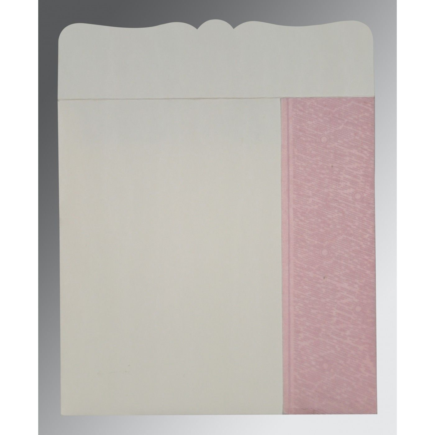 AZALEA PINK SHIMMERY FLORAL THEMED - EMBOSSED WEDDING CARD : CRU-8209H - IndianWeddingCards