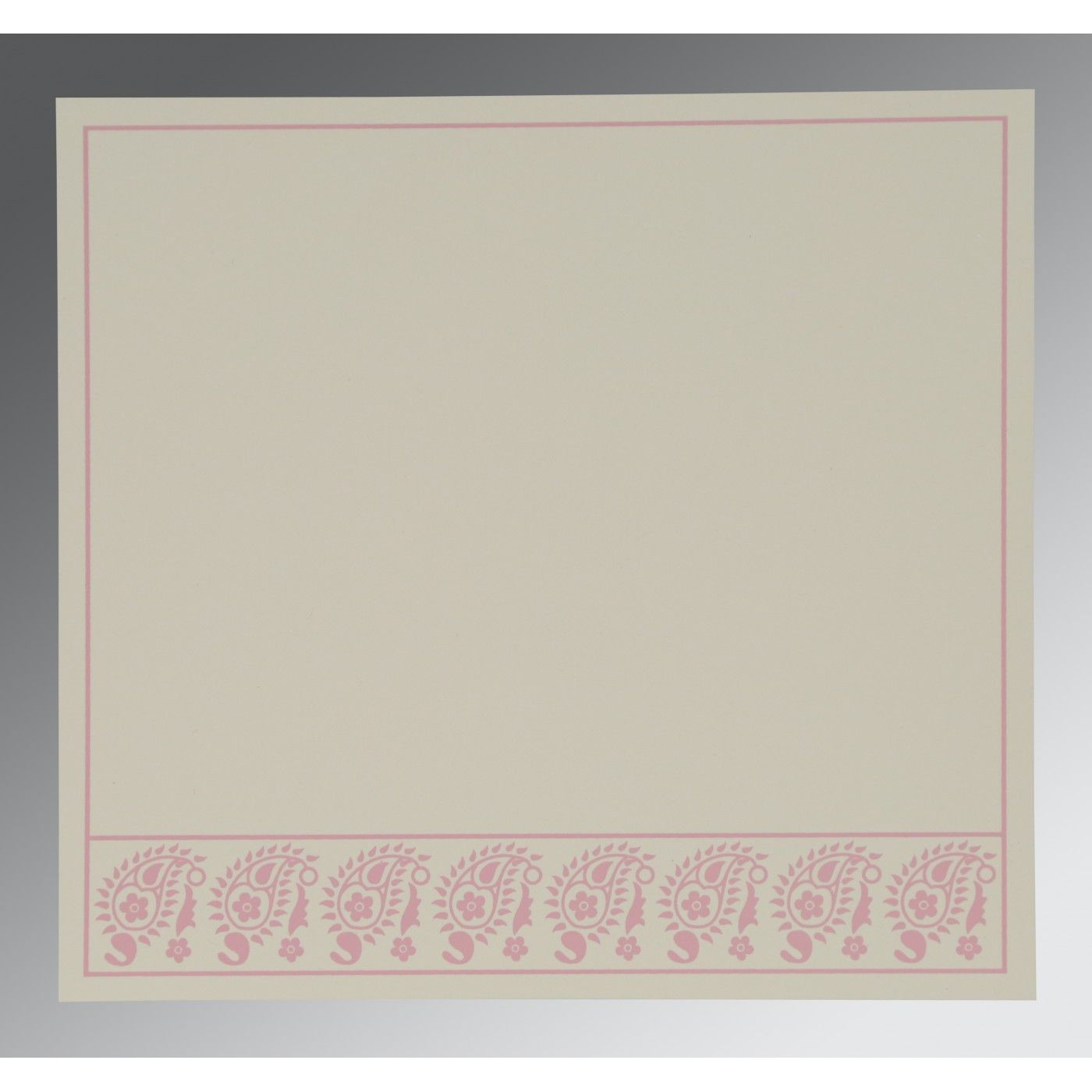 AZALEA PINK WOOLY FLORAL THEMED - SCREEN PRINTED WEDDING CARD : CW-8218J - IndianWeddingCards