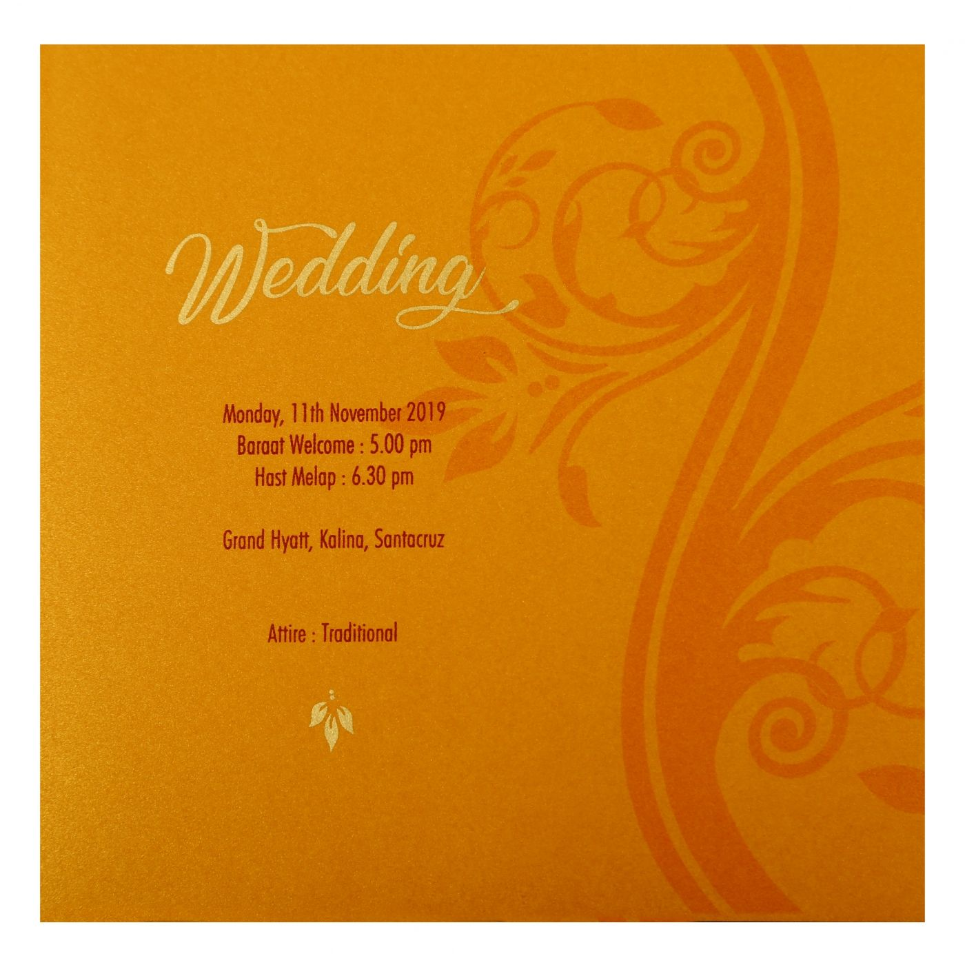 PISTA GREEN SHIMMERY FLORAL THEMED - EMBOSSED WEDDING INVITATION : CI-1901 - IndianWeddingCards