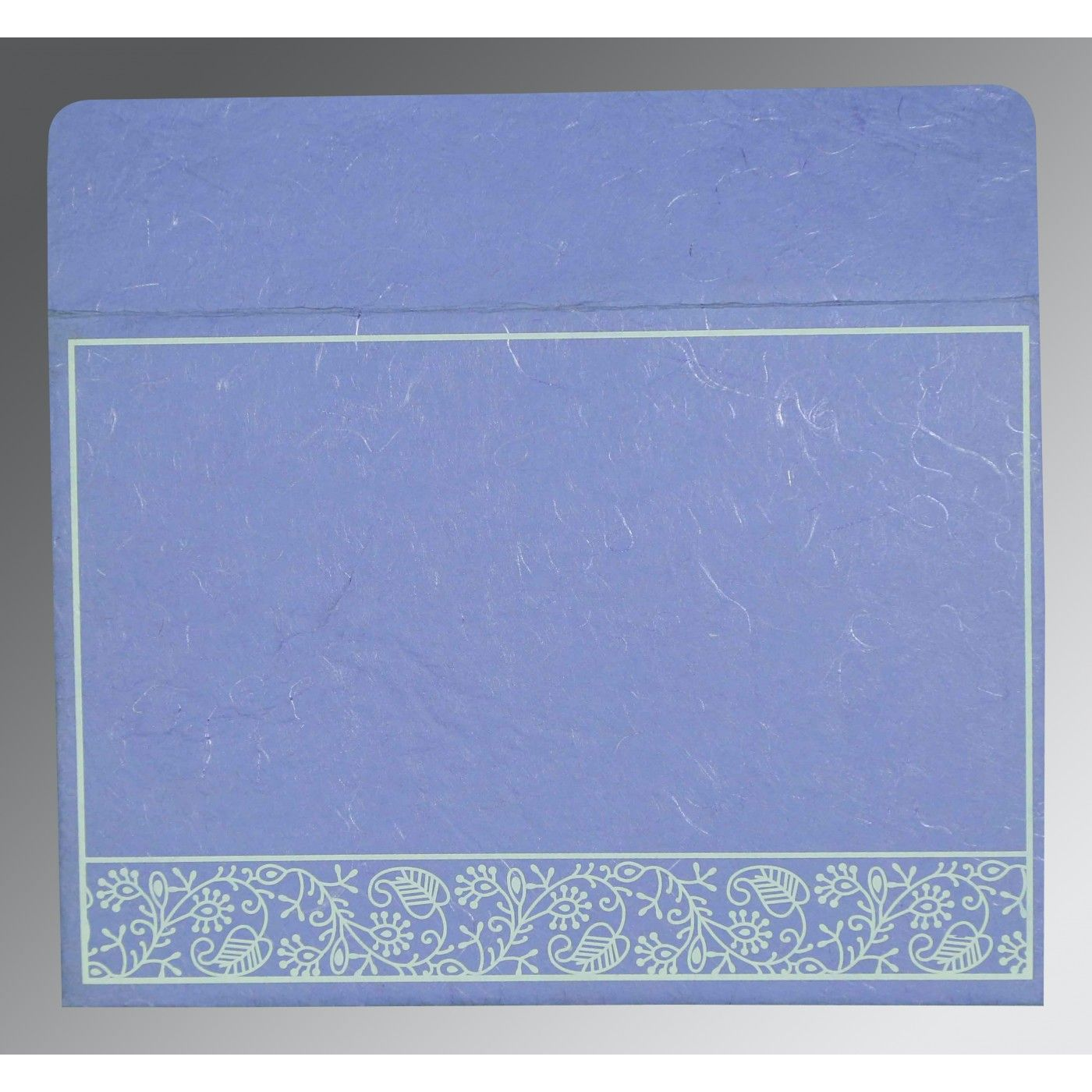 LAVENDER PURPLE HANDMADE SILK SCREEN PRINTED WEDDING CARD : CW-8215B - IndianWeddingCards