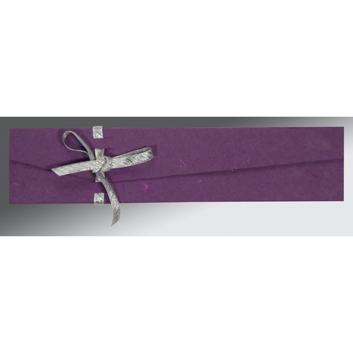 PURPLE HANDMADE SILK WEDDING CARD : CSC-5001K - IndianWeddingCards