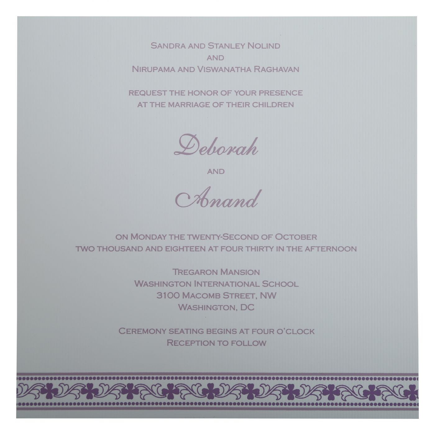 PURPLE MATTE SCREEN PRINTED WEDDING INVITATION : CG-808E - IndianWeddingCards