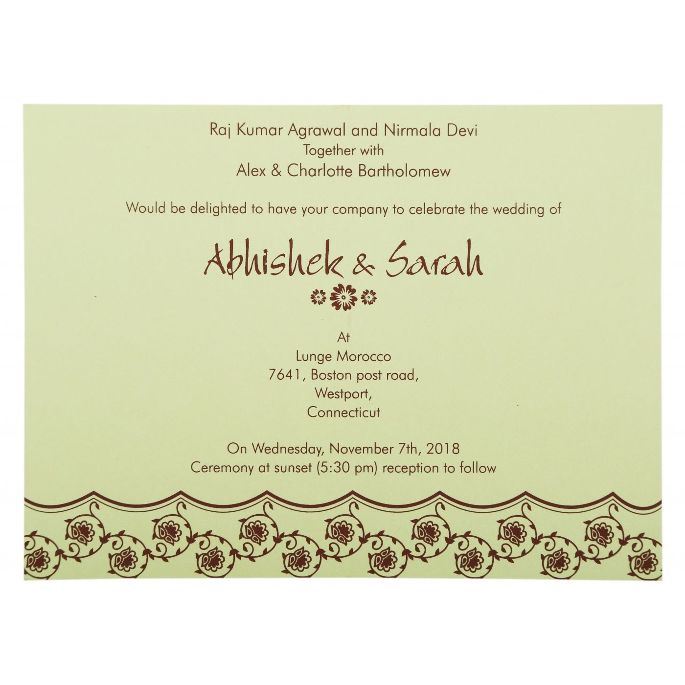 PURPLE SHIMMERY BUTTERFLY THEMED - SCREEN PRINTED WEDDING INVITATION : CG-821A - IndianWeddingCards
