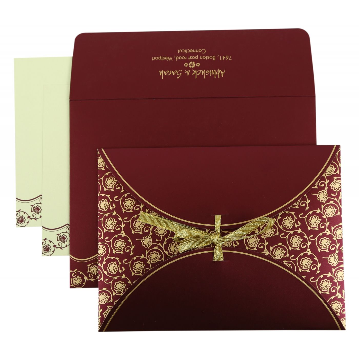 PURPLE SHIMMERY BUTTERFLY THEMED - SCREEN PRINTED WEDDING INVITATION : CI-821A - IndianWeddingCards