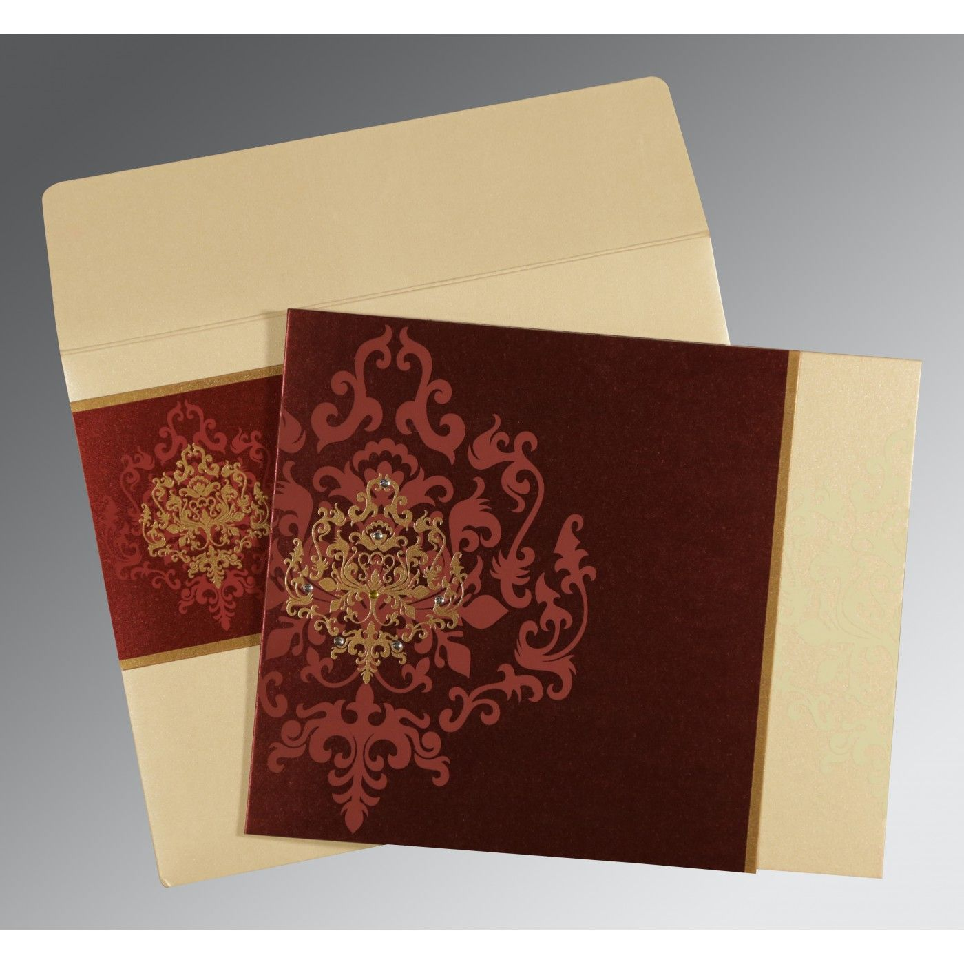 WEDDING CARD : CC-8253F - IndianWeddingCards