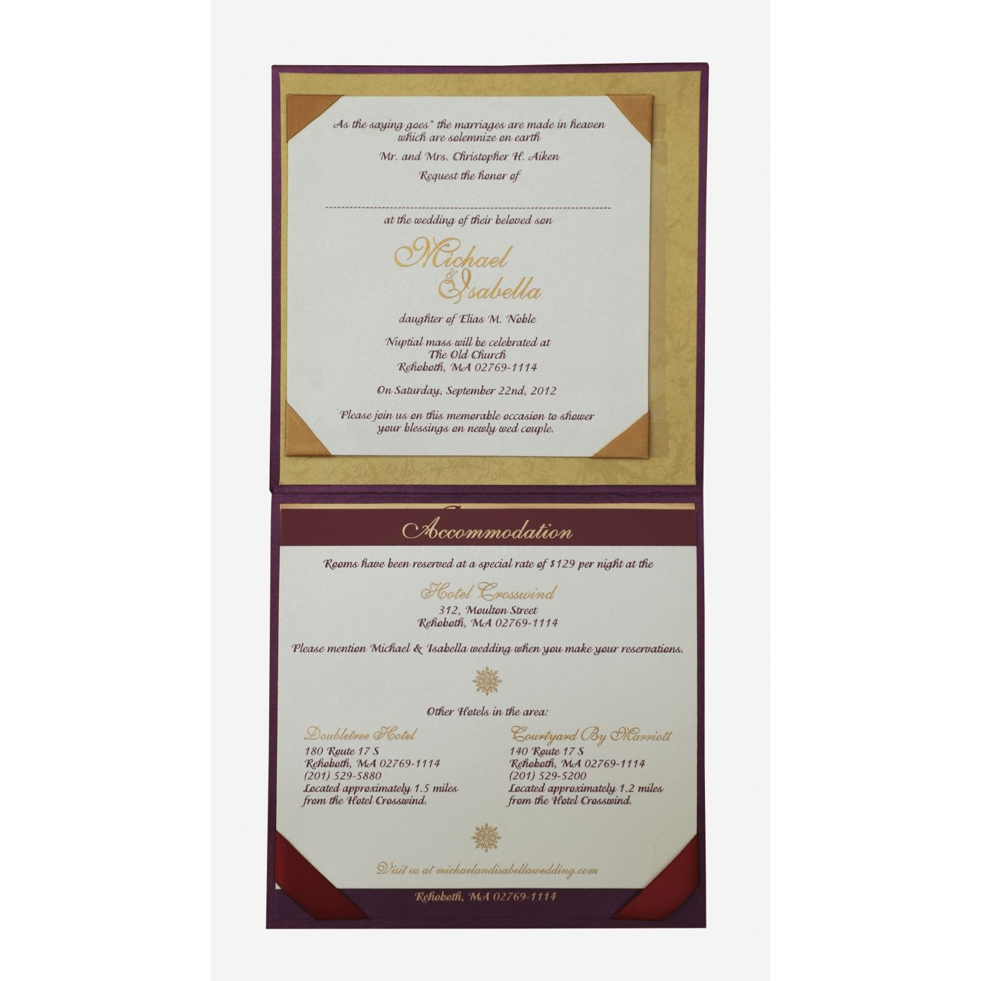PURPLE SHIMMERY FLORAL THEMED - FOIL STAMPED WEDDING INVITATION : CI-837 - IndianWeddingCards