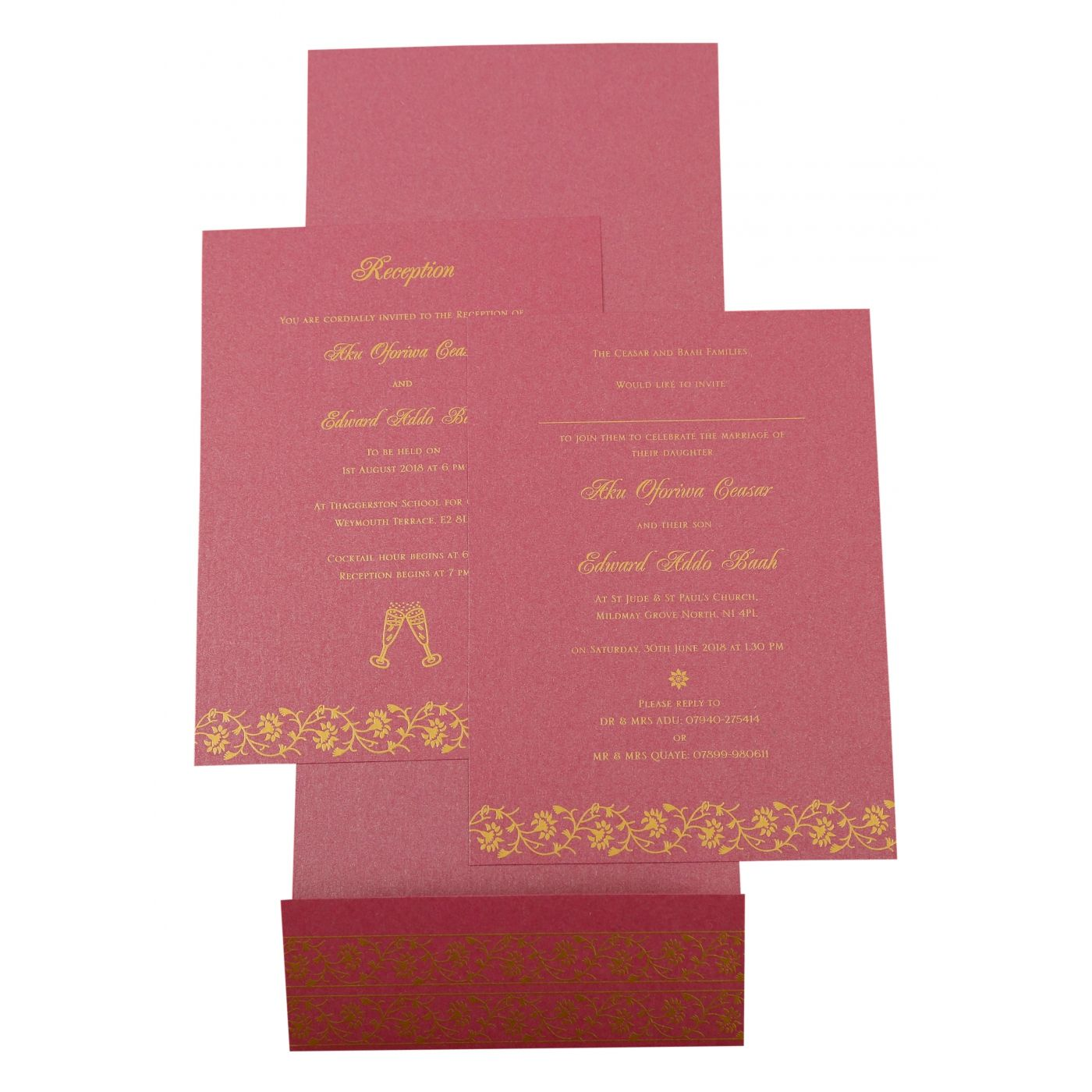 PURPLE SHIMMERY FLORAL THEMED - SCREEN PRINTED WEDDING INVITATION : CG-822D - IndianWeddingCards