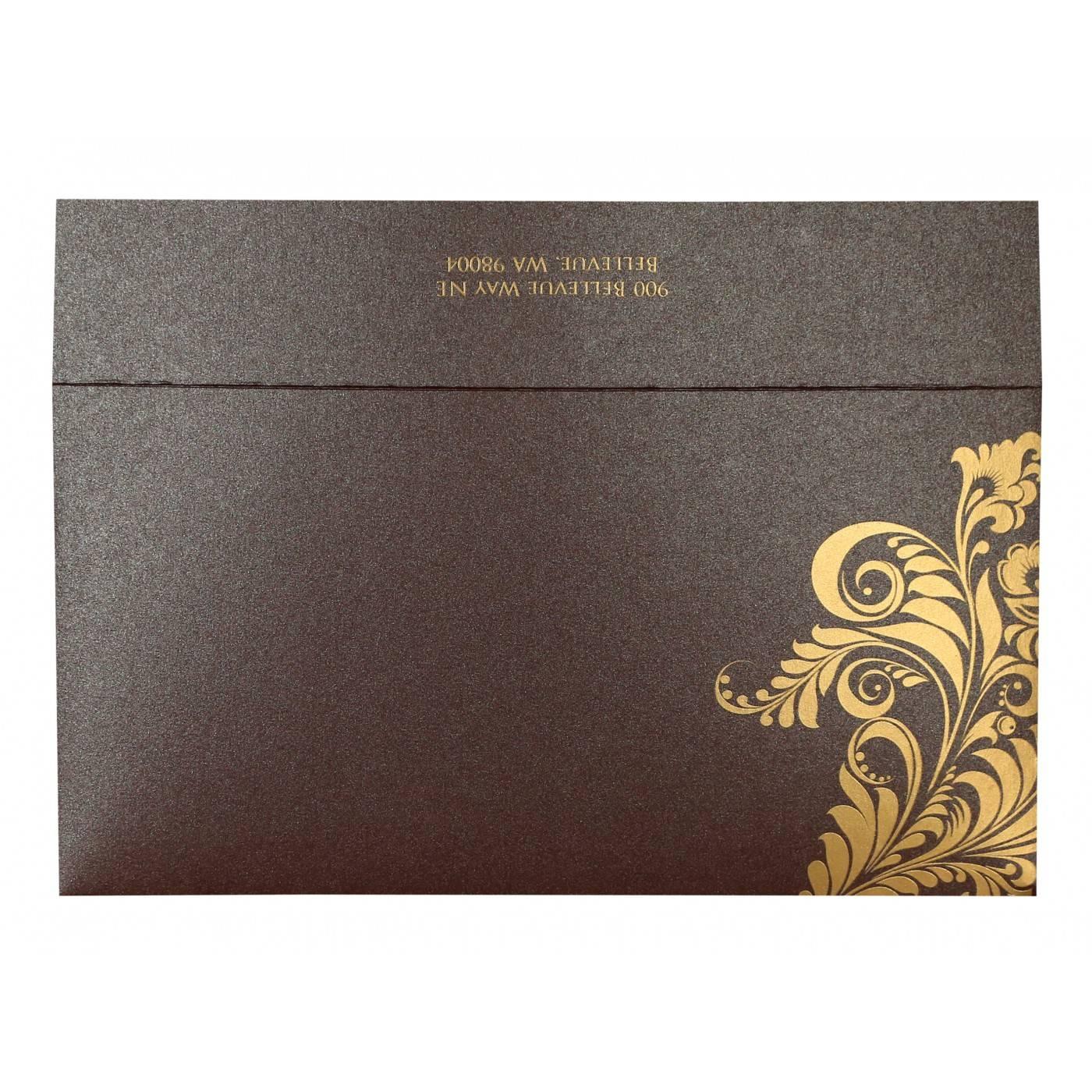 PURPLE SHIMMERY FLORAL THEMED - SCREEN PRINTED WEDDING CARD : CIN-8259F - IndianWeddingCards