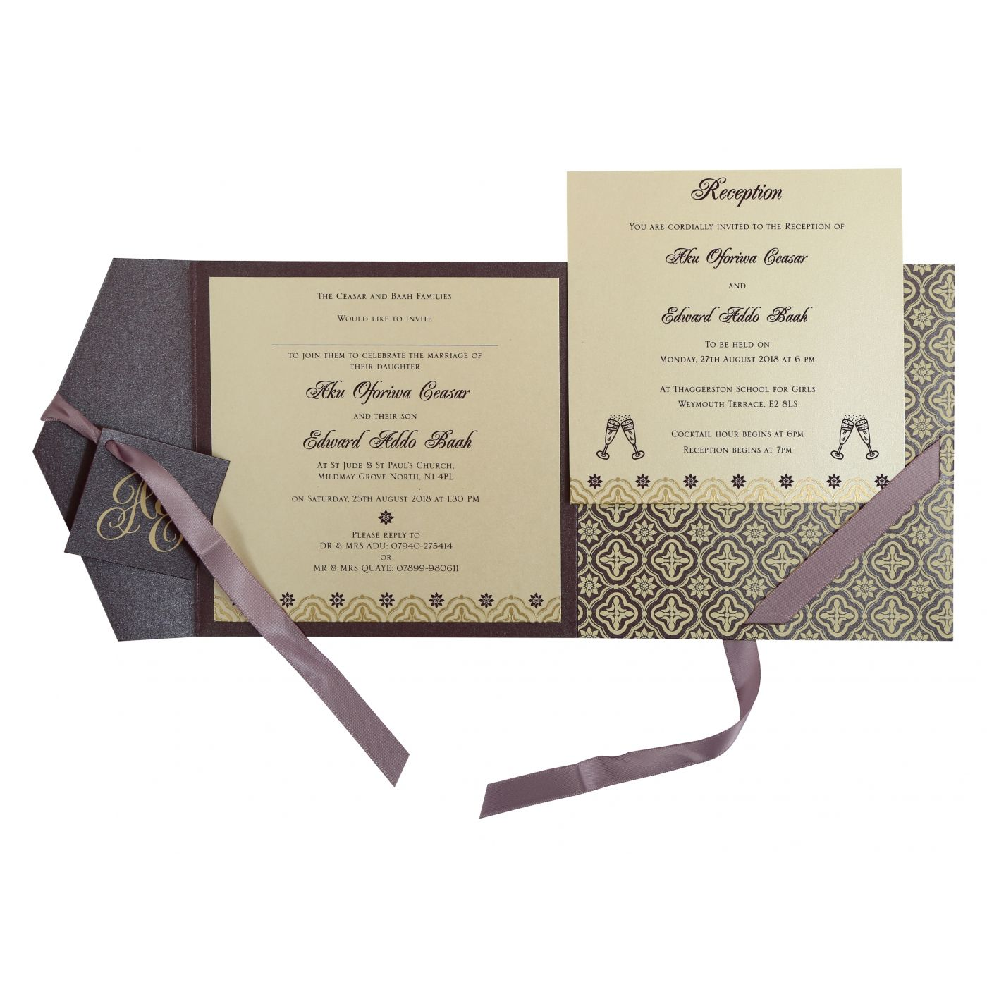 PURPLE SHIMMERY SCREEN PRINTED WEDDING INVITATION : CI-805C - IndianWeddingCards