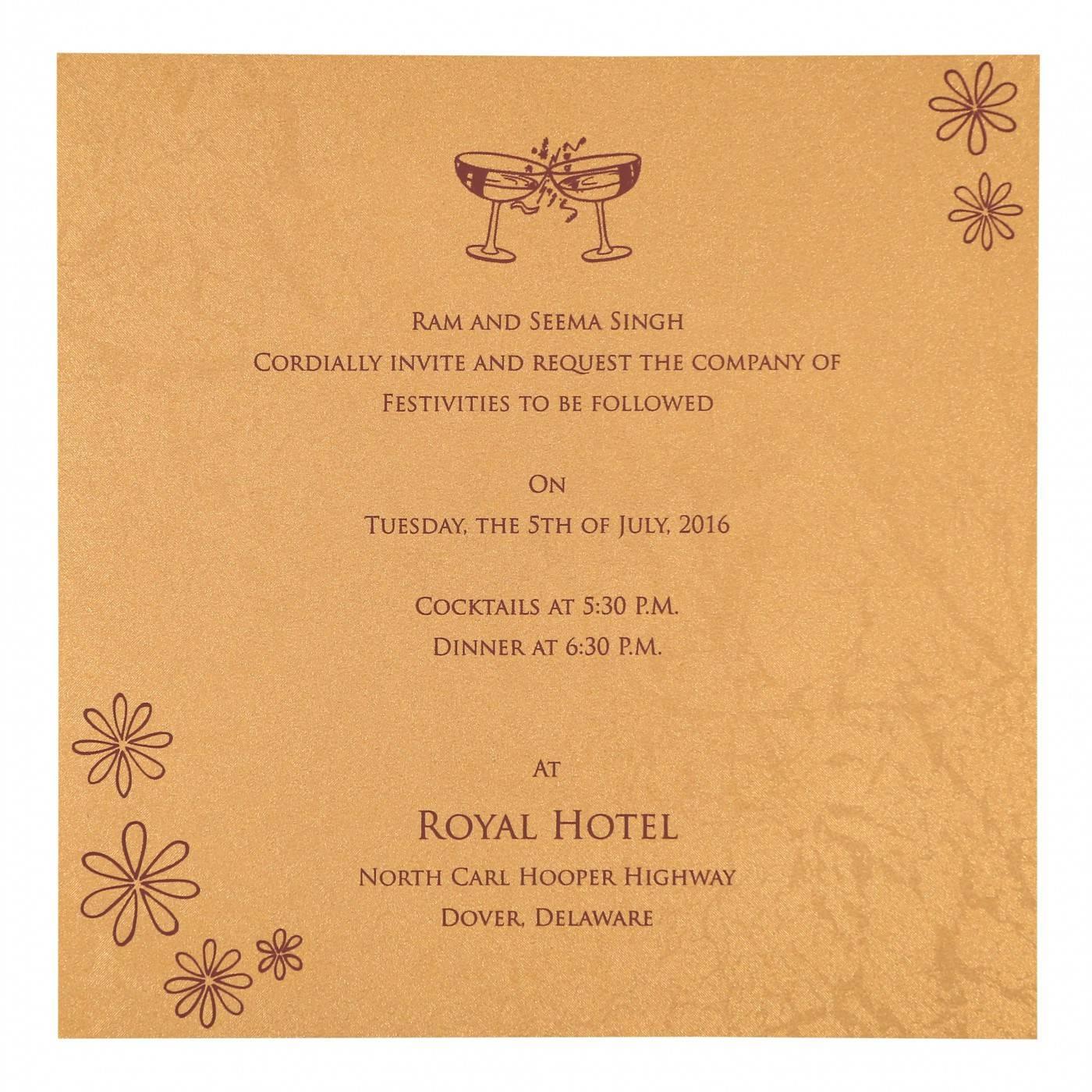 WEDDING INVITATION : CC-8263C - IndianWeddingCards