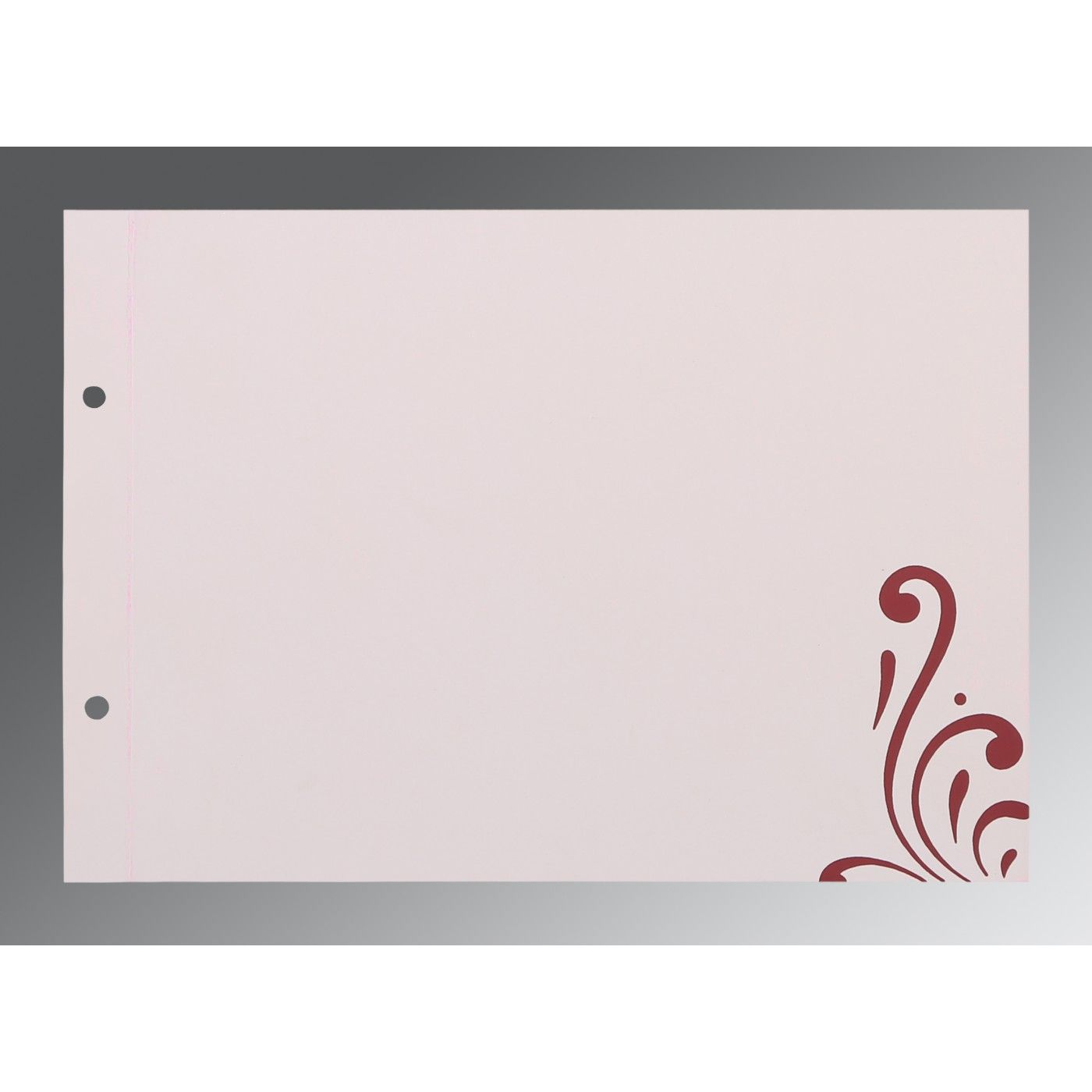 RAISIN SHIMMERY SCREEN PRINTED WEDDING CARD : CD-8223J - IndianWeddingCards