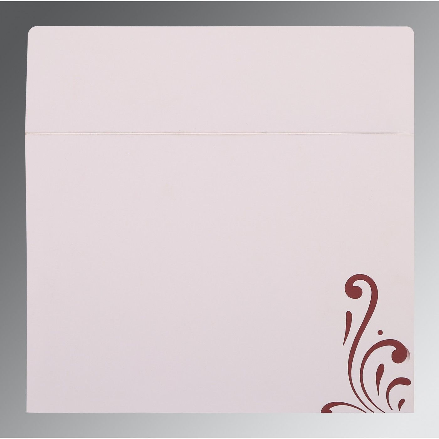 RAISIN SHIMMERY SCREEN PRINTED WEDDING CARD : CI-8223J - IndianWeddingCards